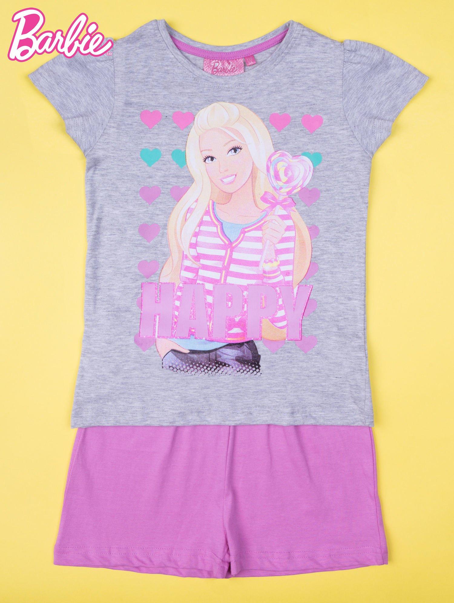 Szara piżama dla dziewczynki BARBIE                                  zdj.                                  1
