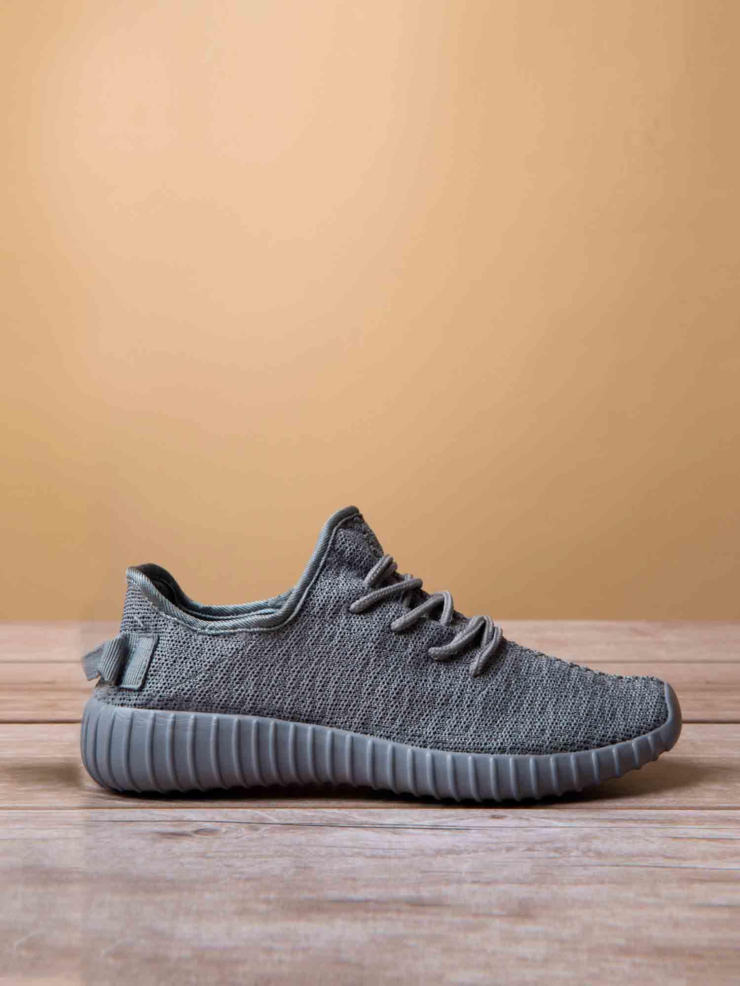 Szare buty sportowe z tkaniny textile Be Active z uchwytem z tyłu                                  zdj.                                  1