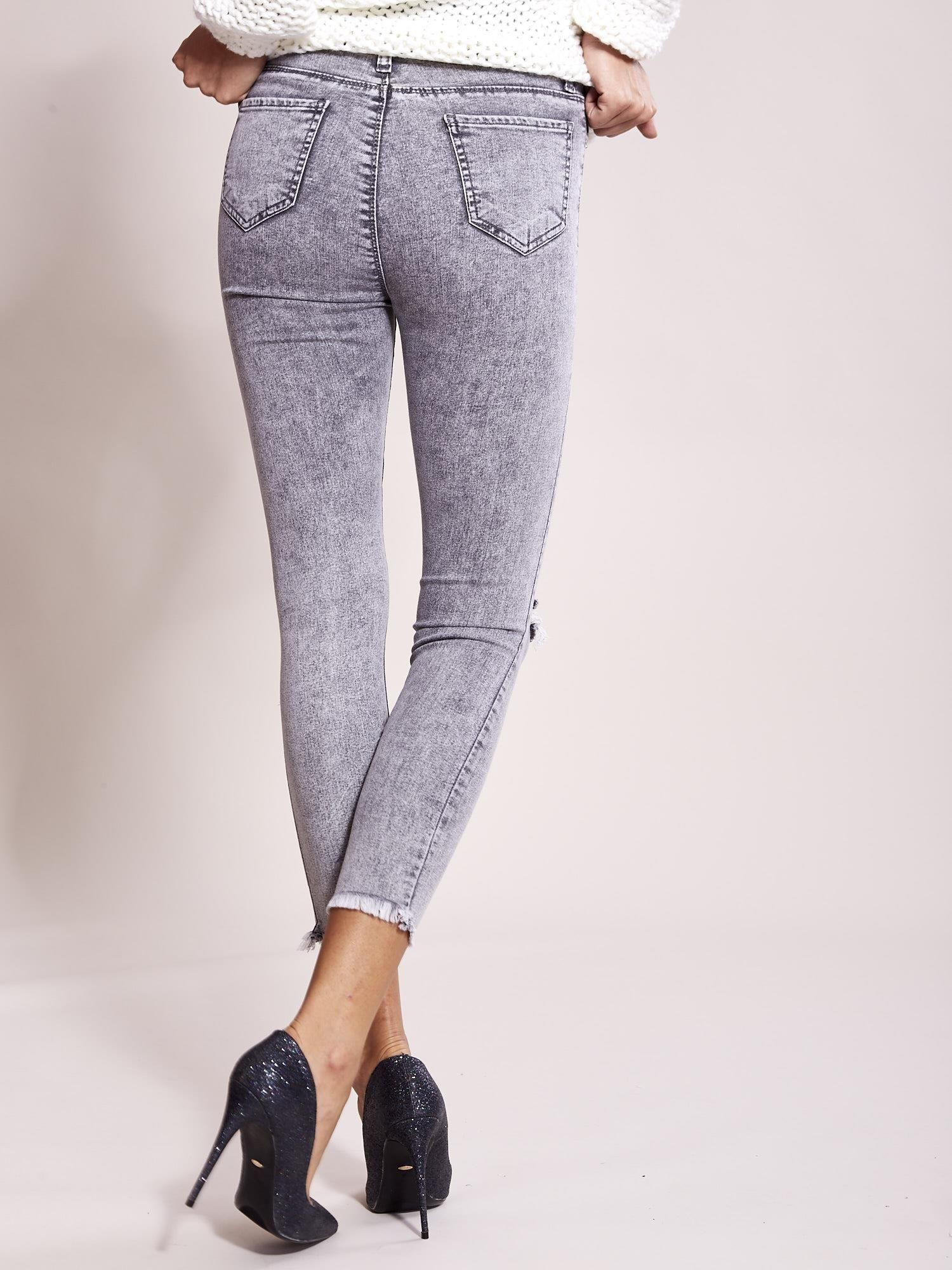 434fa0b773 Szare jeansy z wysokim stanem - Spodnie jeansowe - sklep eButik.pl