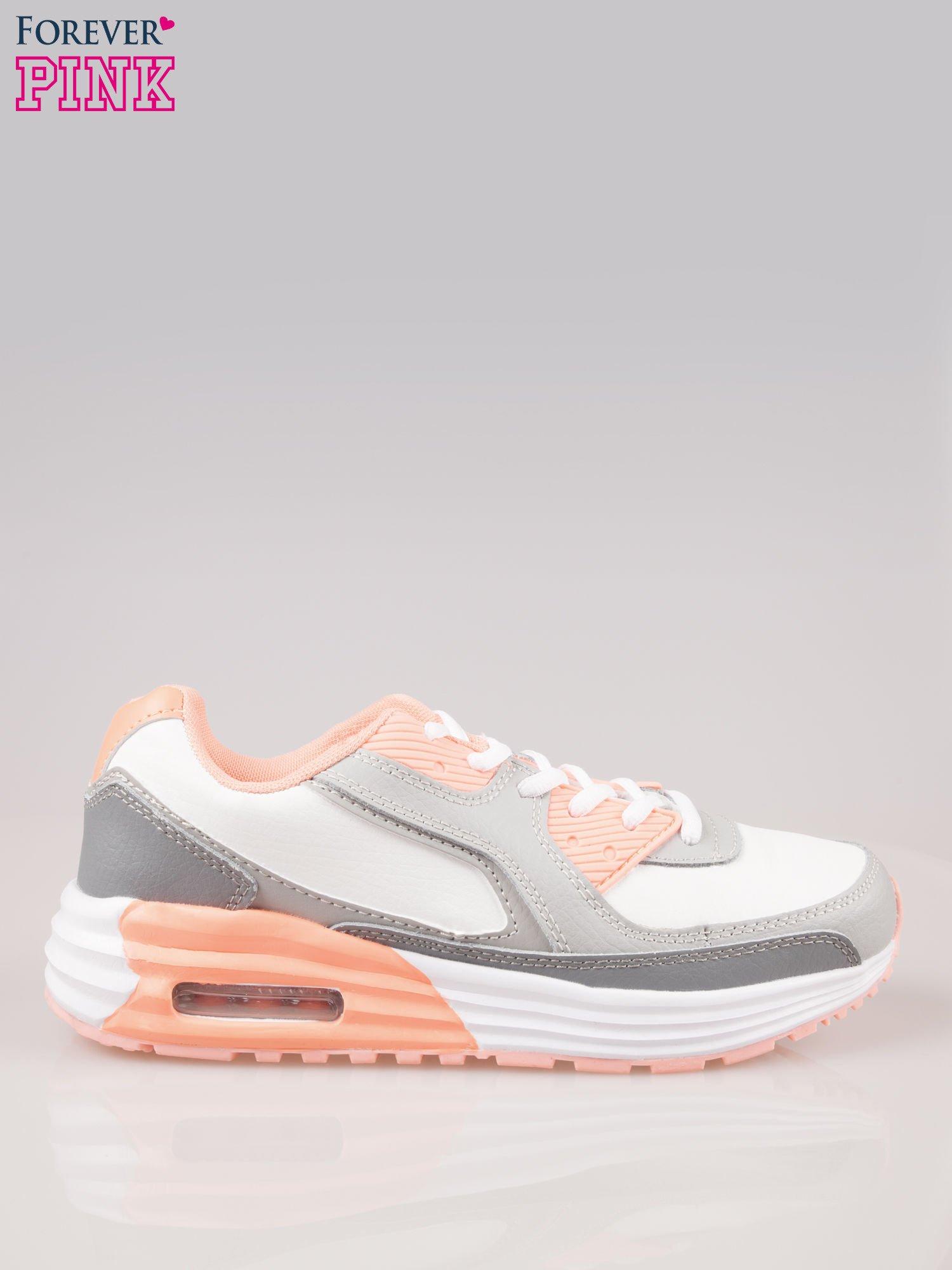 Szaro-pomarańczowe buty sportowe textile Make Up z poduszką powietrzną                                  zdj.                                  1