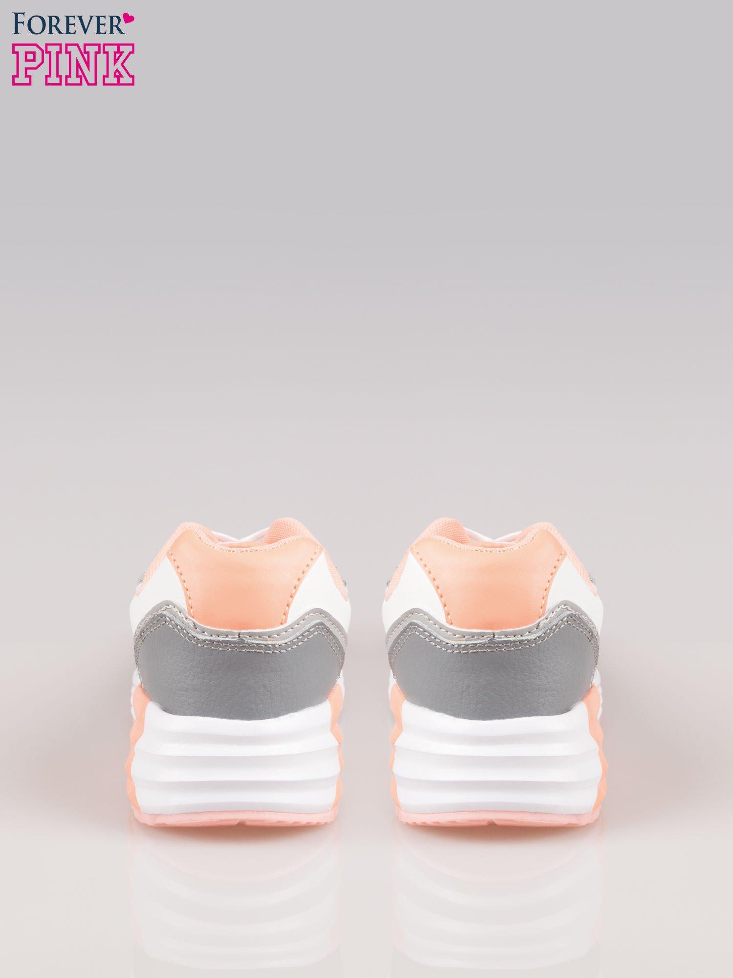 Szaro-pomarańczowe buty sportowe textile Make Up z poduszką powietrzną                                  zdj.                                  3