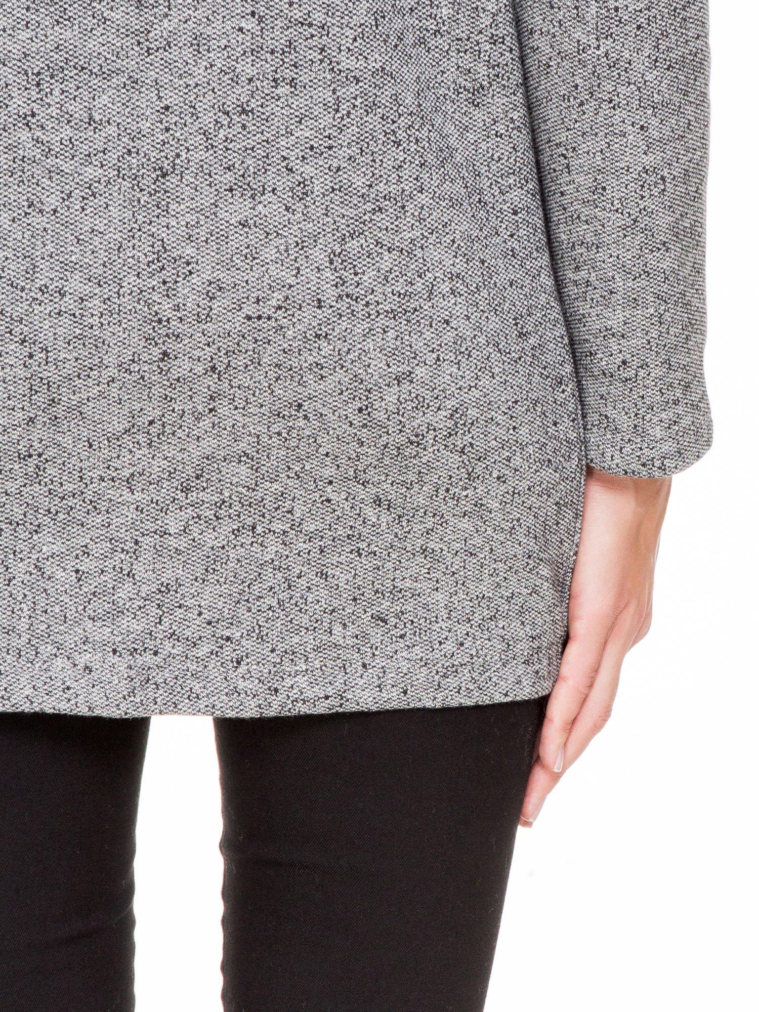 Szary melanżowy bluzożakiet z kieszeniami                                  zdj.                                  9