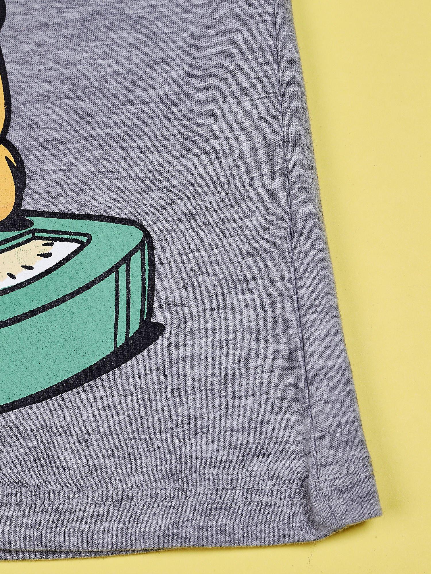 Szary t-shirt chłopięcy GARFIELD                                  zdj.                                  5