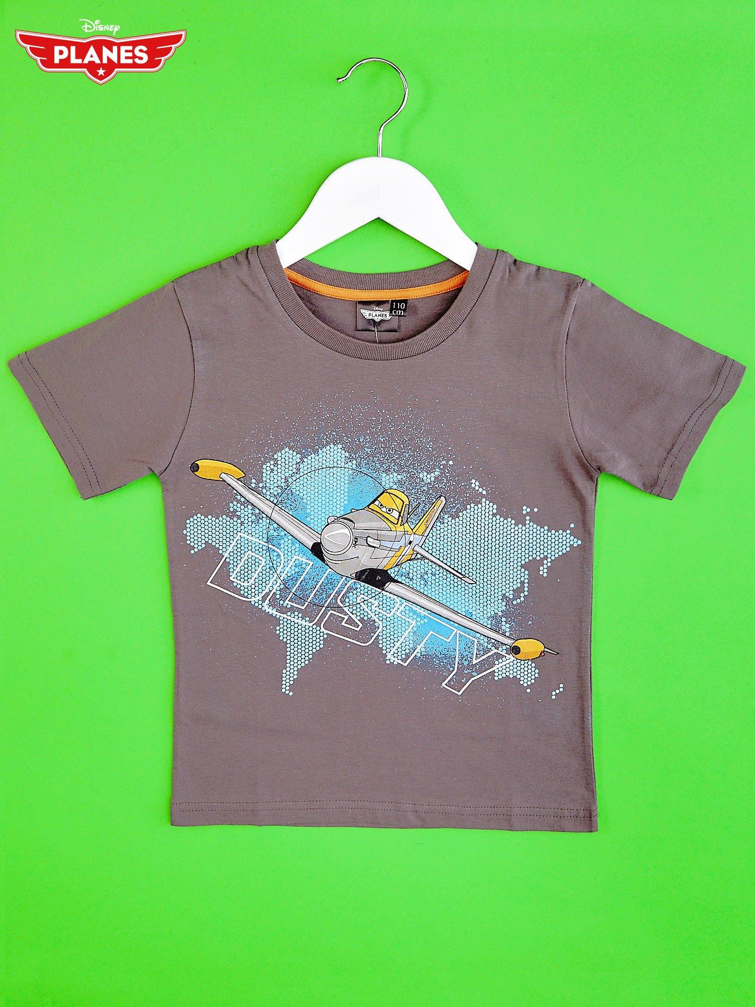 Szary t-shirt chłopięcy SAMOLOTY                                  zdj.                                  1