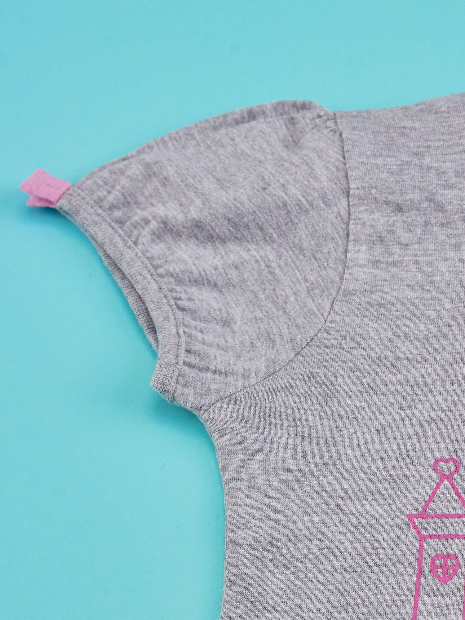 Szary t-shirt dla dziewczynki HELLO KITTY                                  zdj.                                  3