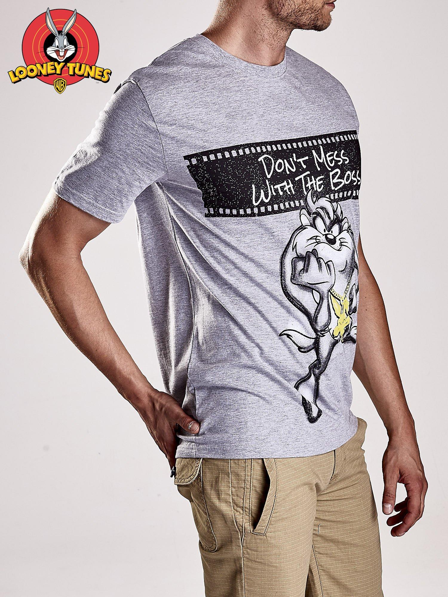 Szary t-shirt męski LOONEY TUNES                                  zdj.                                  4