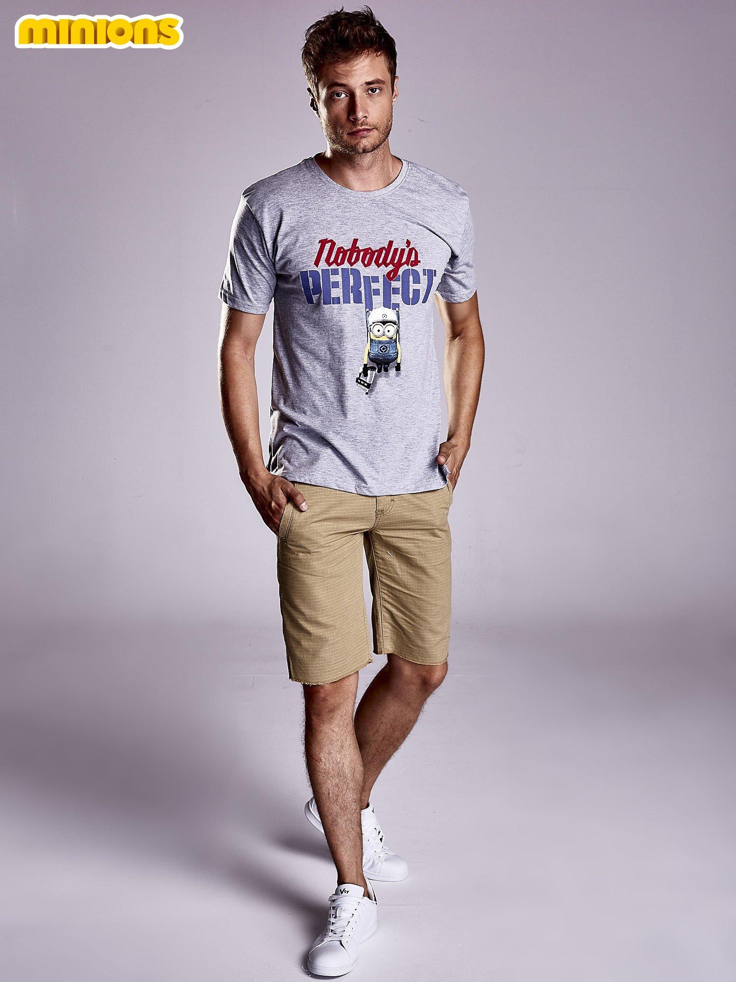 Szary t-shirt męski MINIONS                                   zdj.                                  4