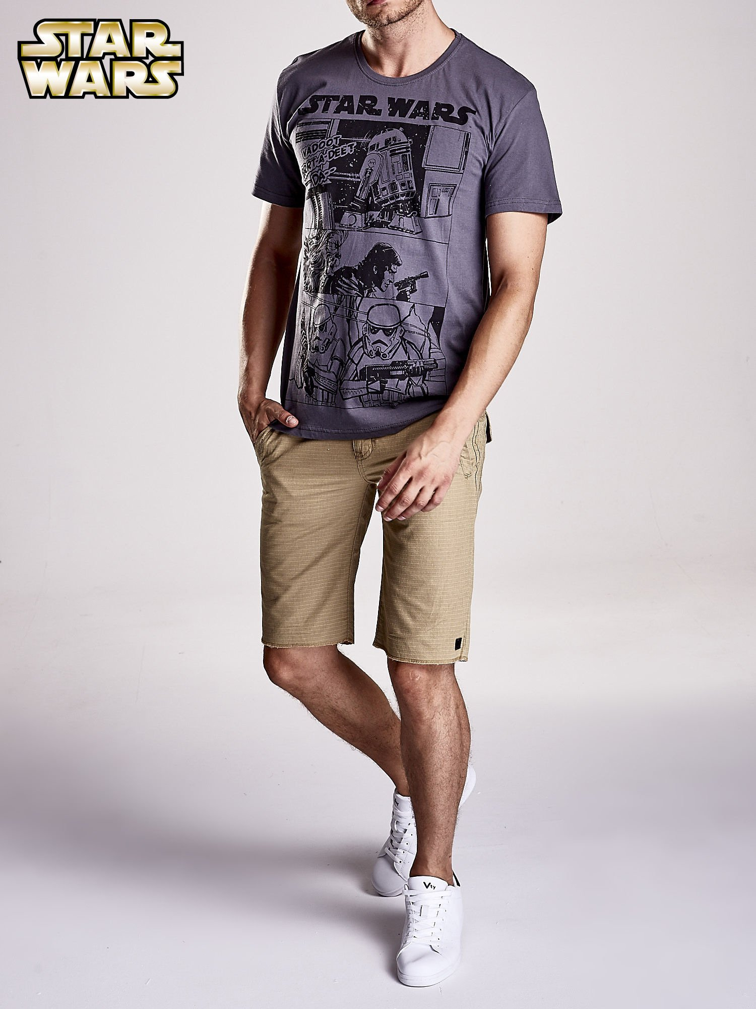 Szary t-shirt męski STAR WARS                                  zdj.                                  8