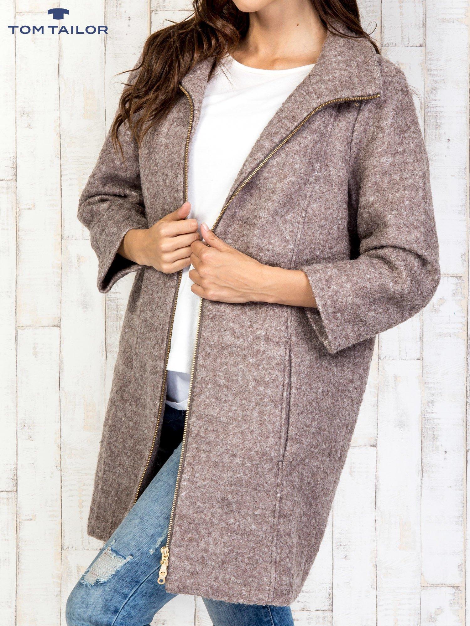 TOM TAILOR Brązowy dwuczęściowy płaszcz z kurtką pikowaną                                  zdj.                                  17