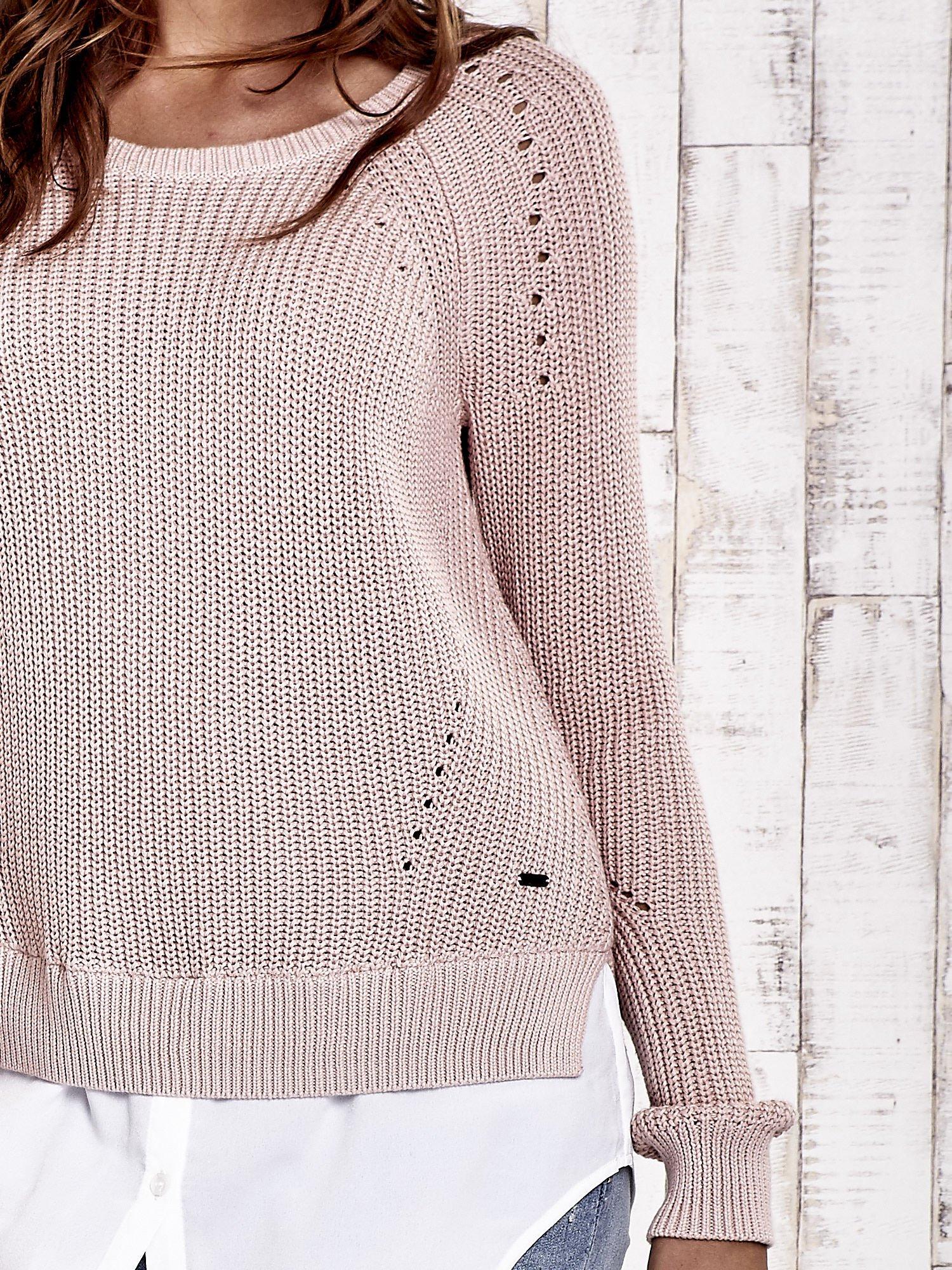 TOM TAILOR Brzoskwiniowy sweter z koszulą                                  zdj.                                  7