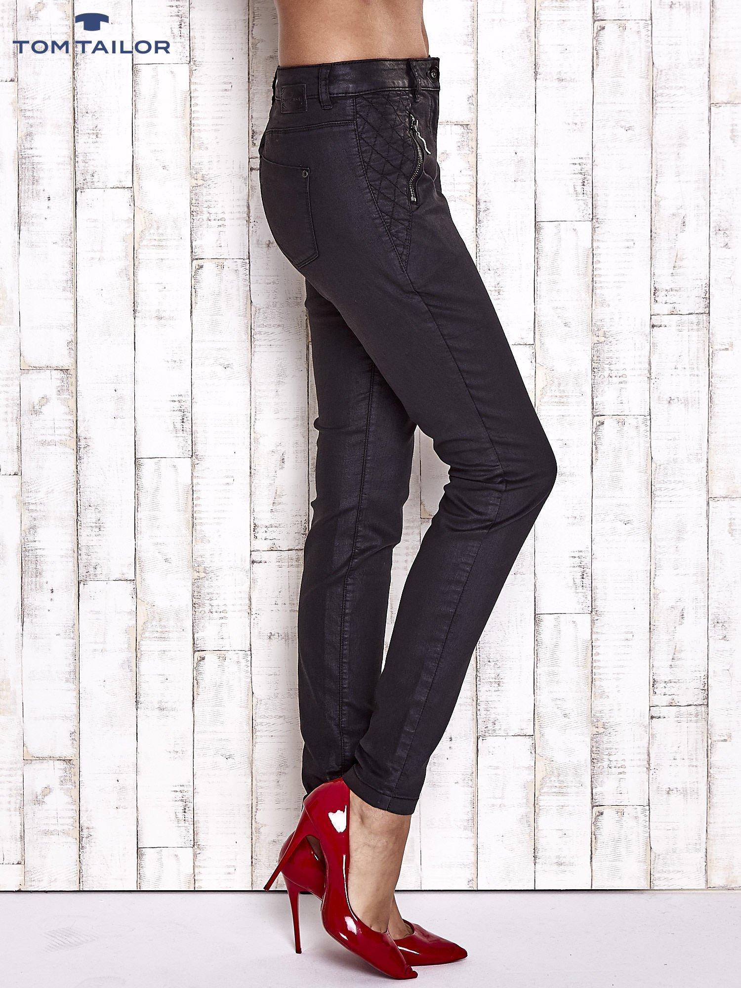 TOM TAILOR Czarne spodnie skinny z suwakami                                  zdj.                                  3