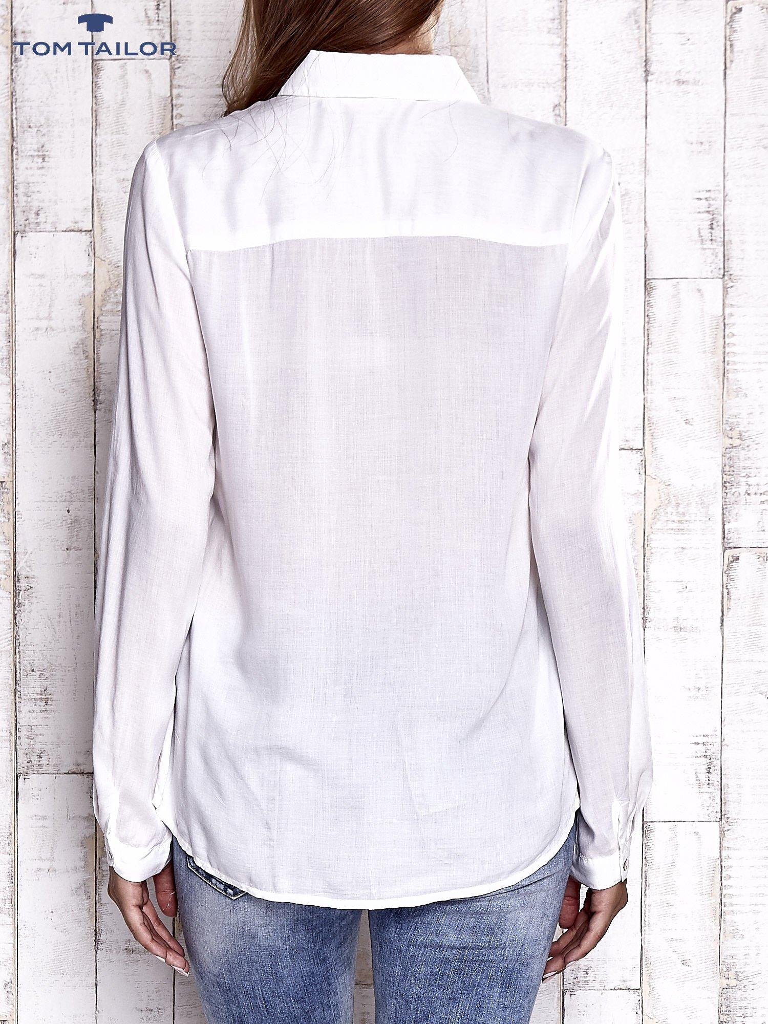 TOM TAILOR Ecru koszula z koronkową wstawką                                  zdj.                                  2
