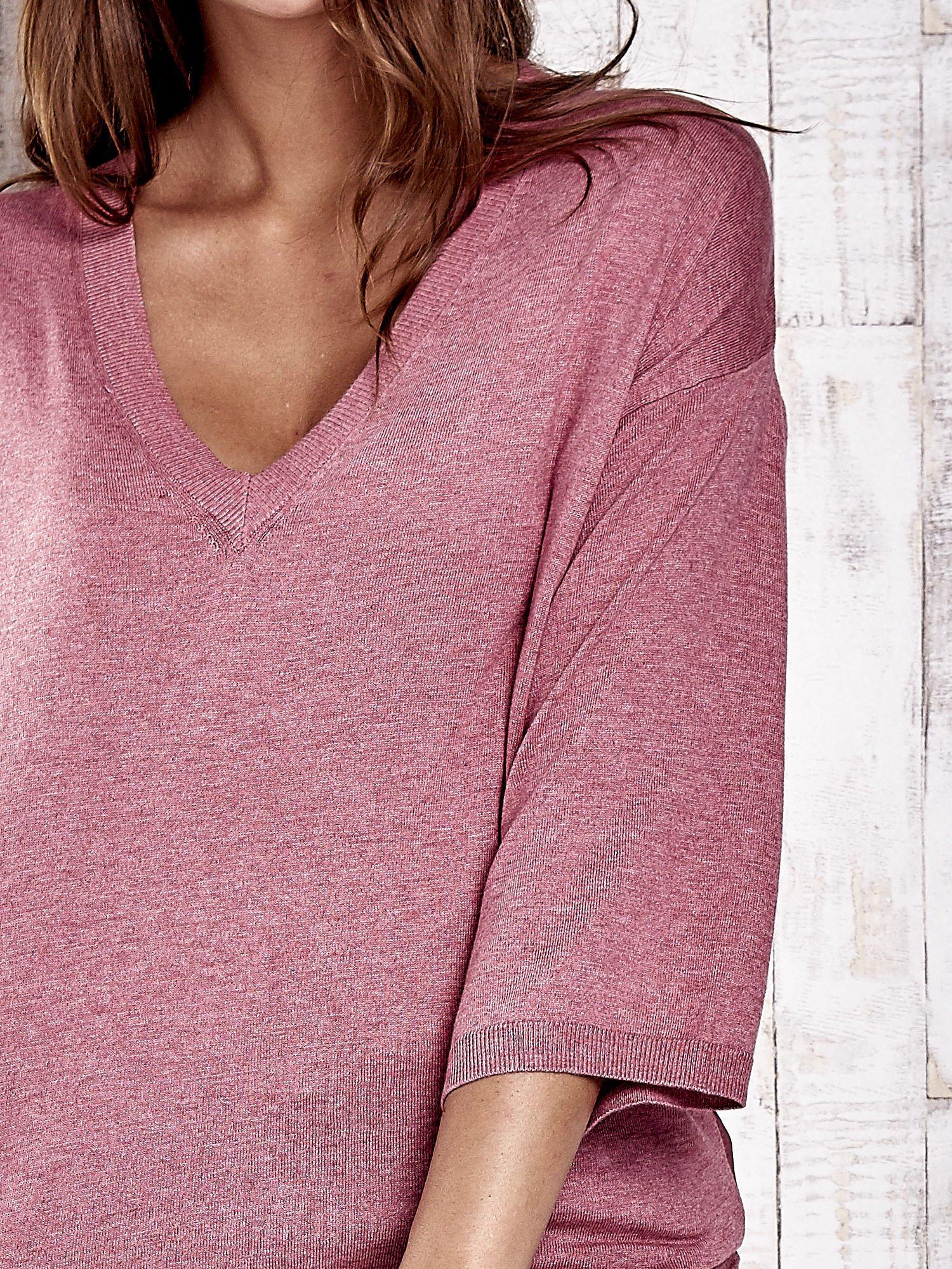 TOM TAILOR Koralowy sweter z satynowym tyłem                                  zdj.                                  5