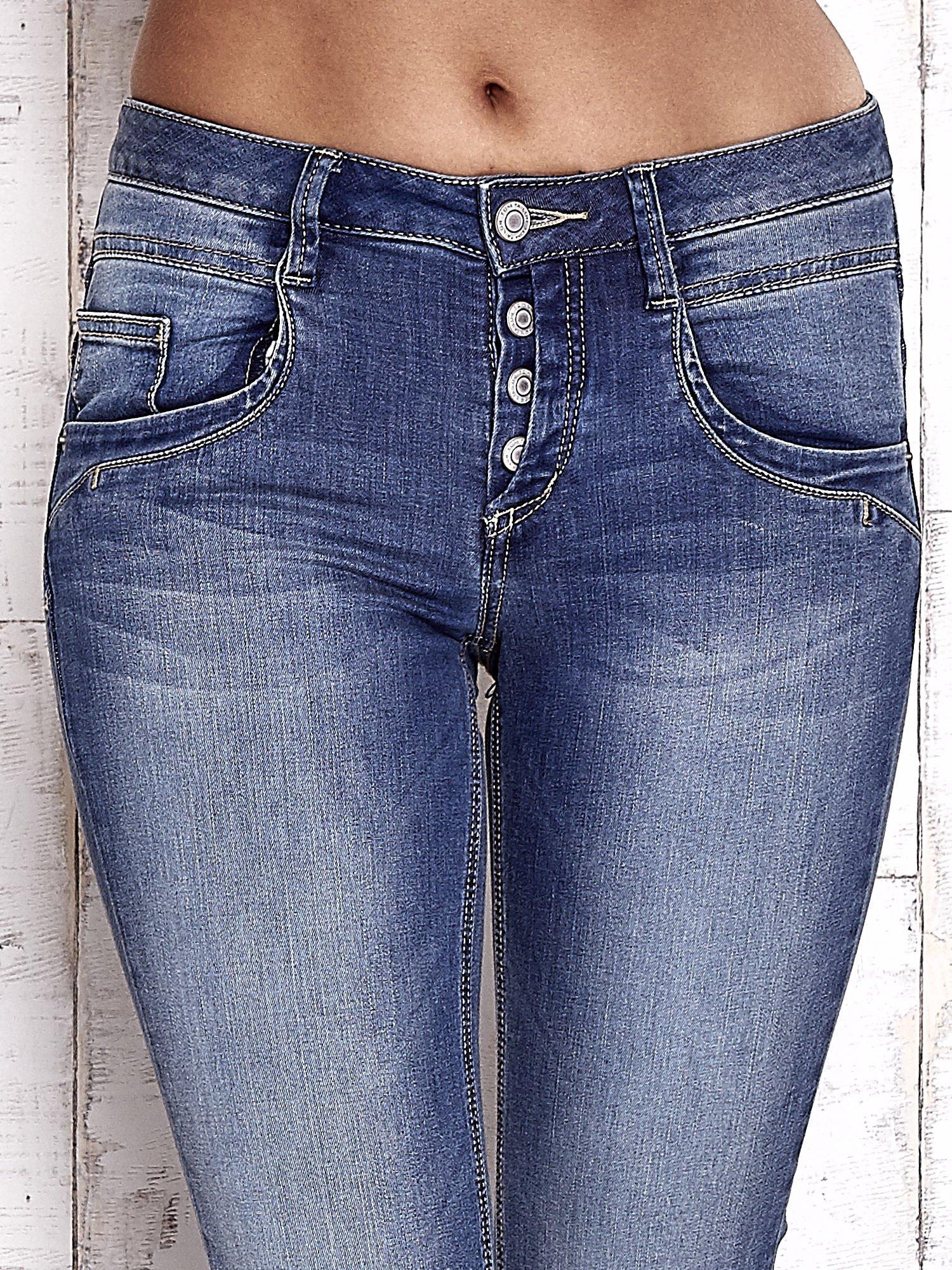TOM TAILOR Niebieskie przecierane spodnie boyfriend jeans                                   zdj.                                  4