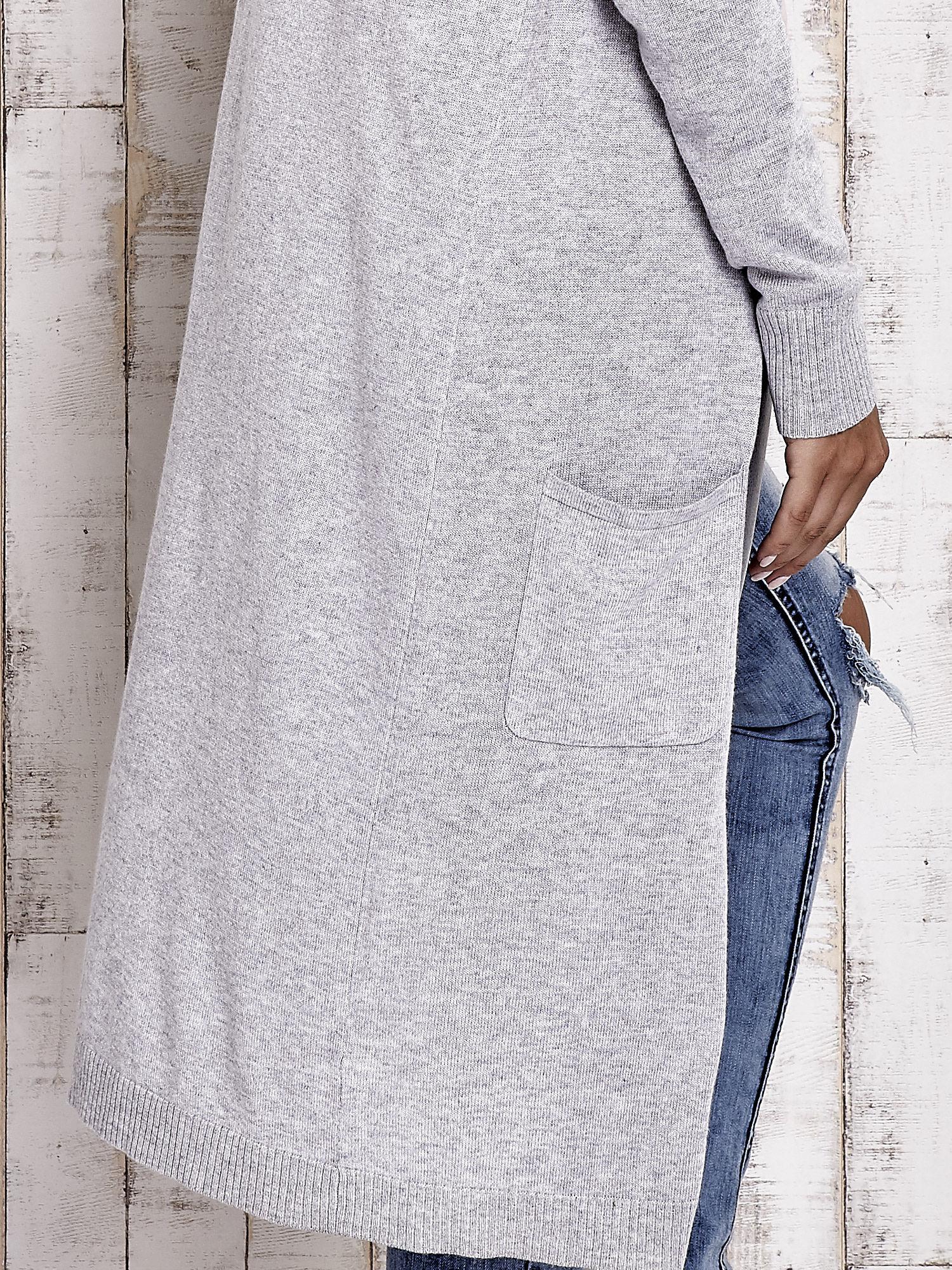 TOM TAILOR Szary długi sweter z kieszeniami                                  zdj.                                  5