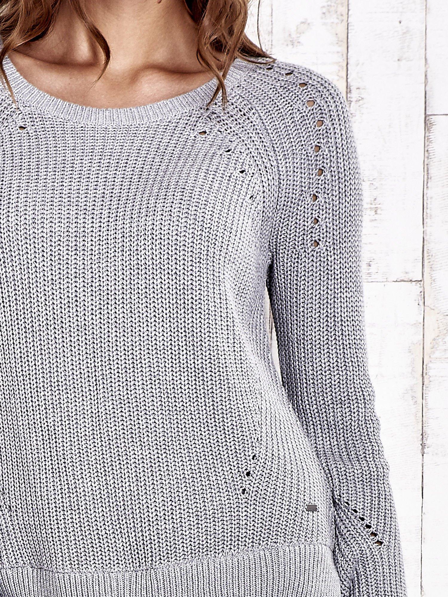 TOM TAILOR Szary sweter z koszulą                                  zdj.                                  6