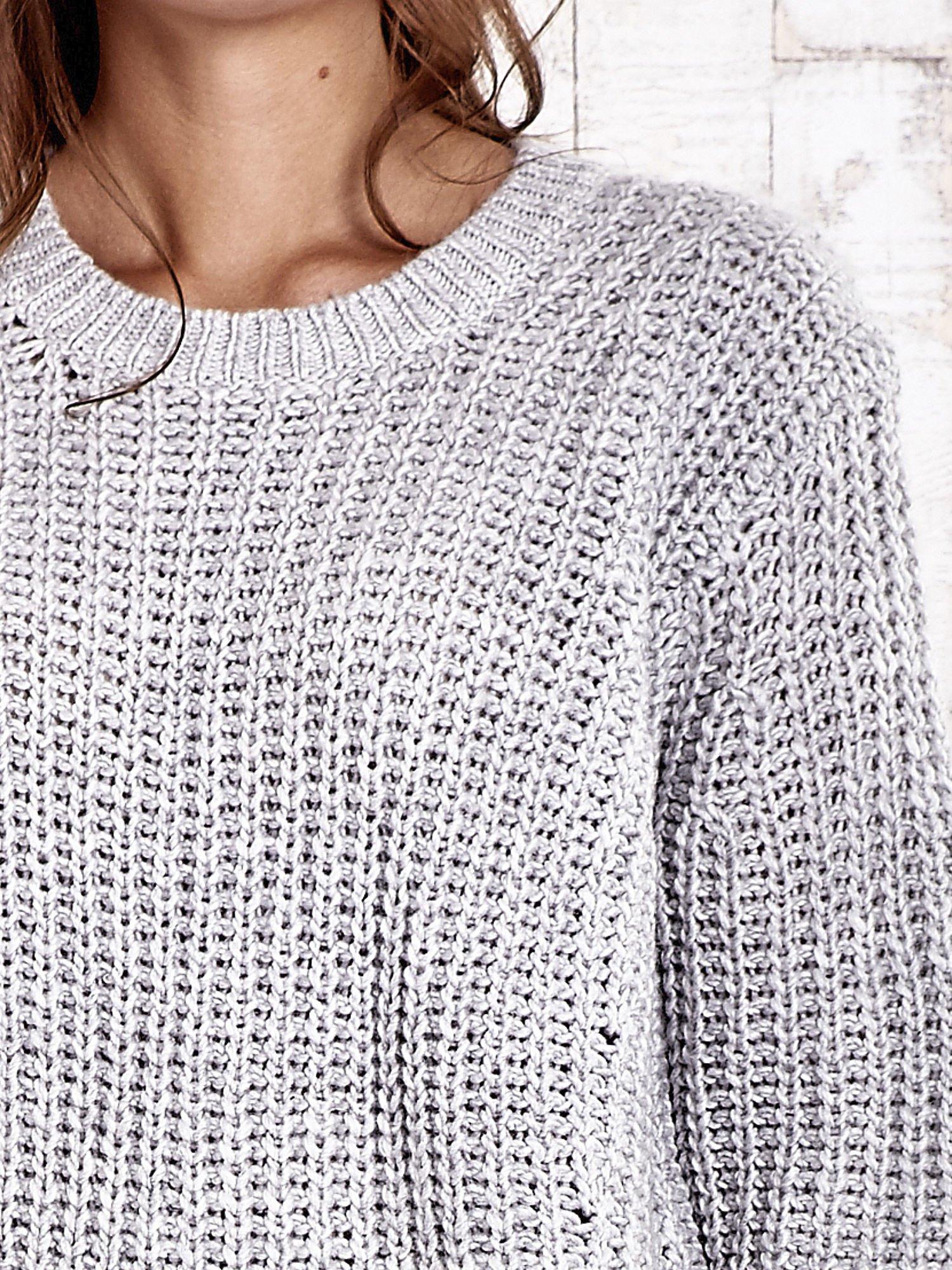 TOM TAILOR Szary wełniany sweter o grubym splocie                                  zdj.                                  6