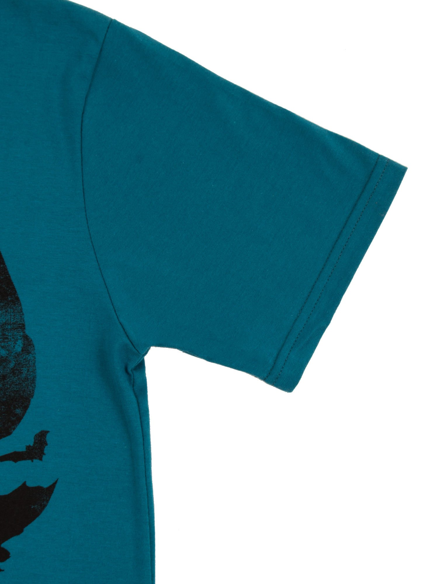 Turkusowy t-shirt męski z motywem BATMAN V SUPERMAN                                  zdj.                                  4