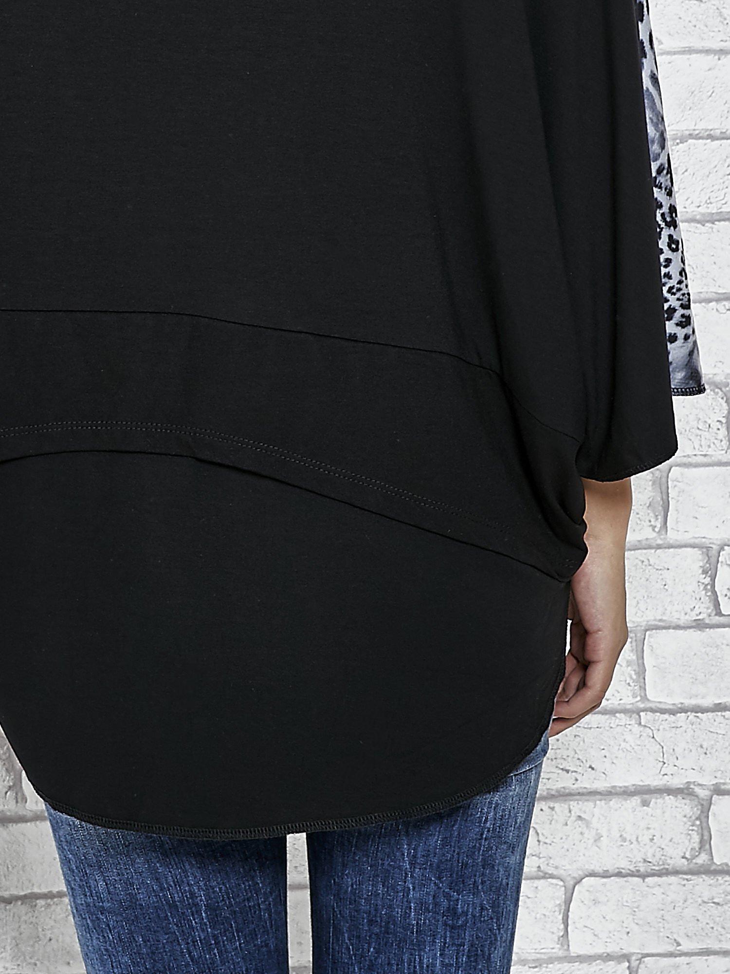 Warstwowy t-shirt z motywem animal print                                  zdj.                                  6