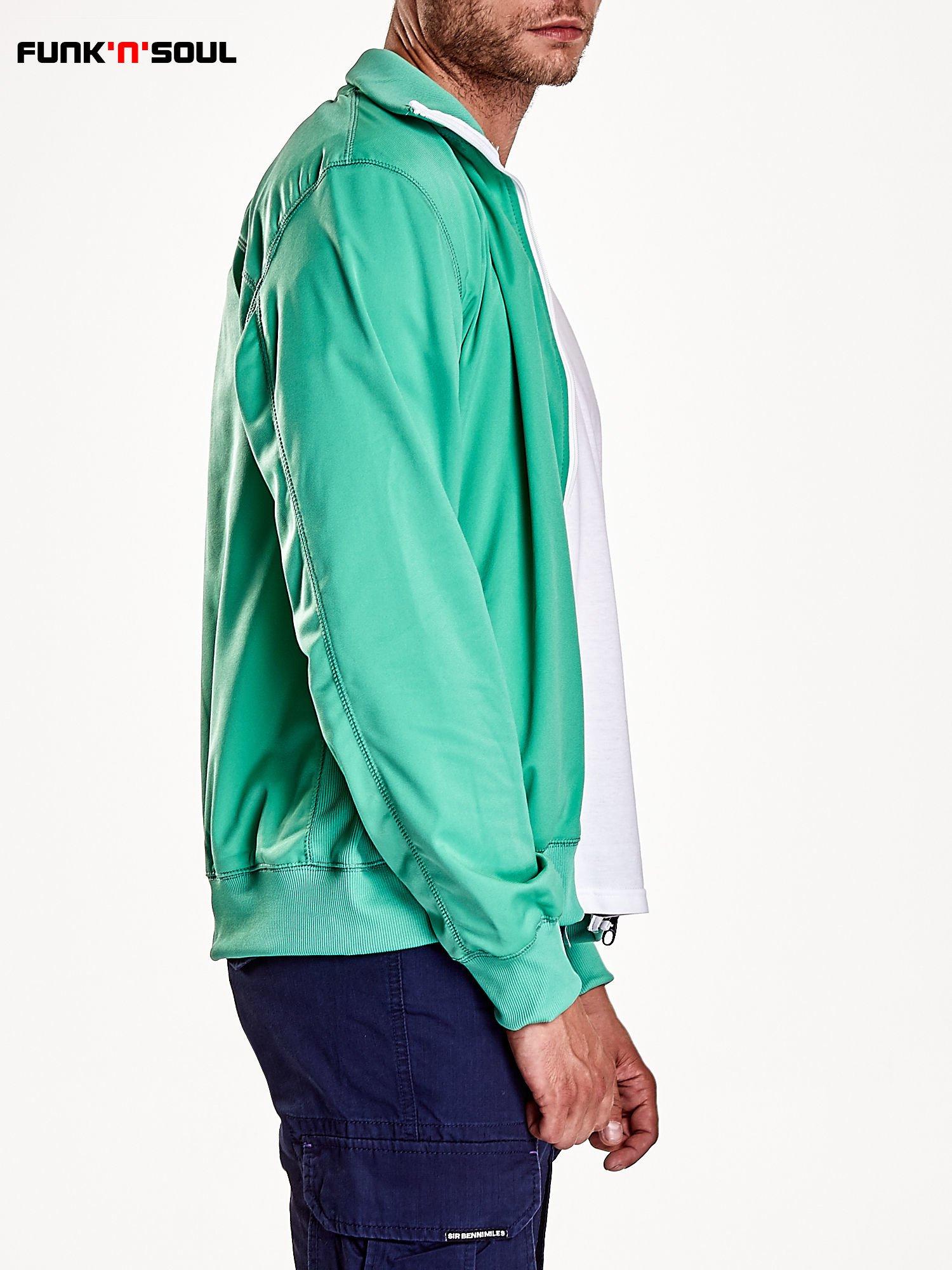 Zielona bluza męska na suwak Funk n Soul                                  zdj.                                  6