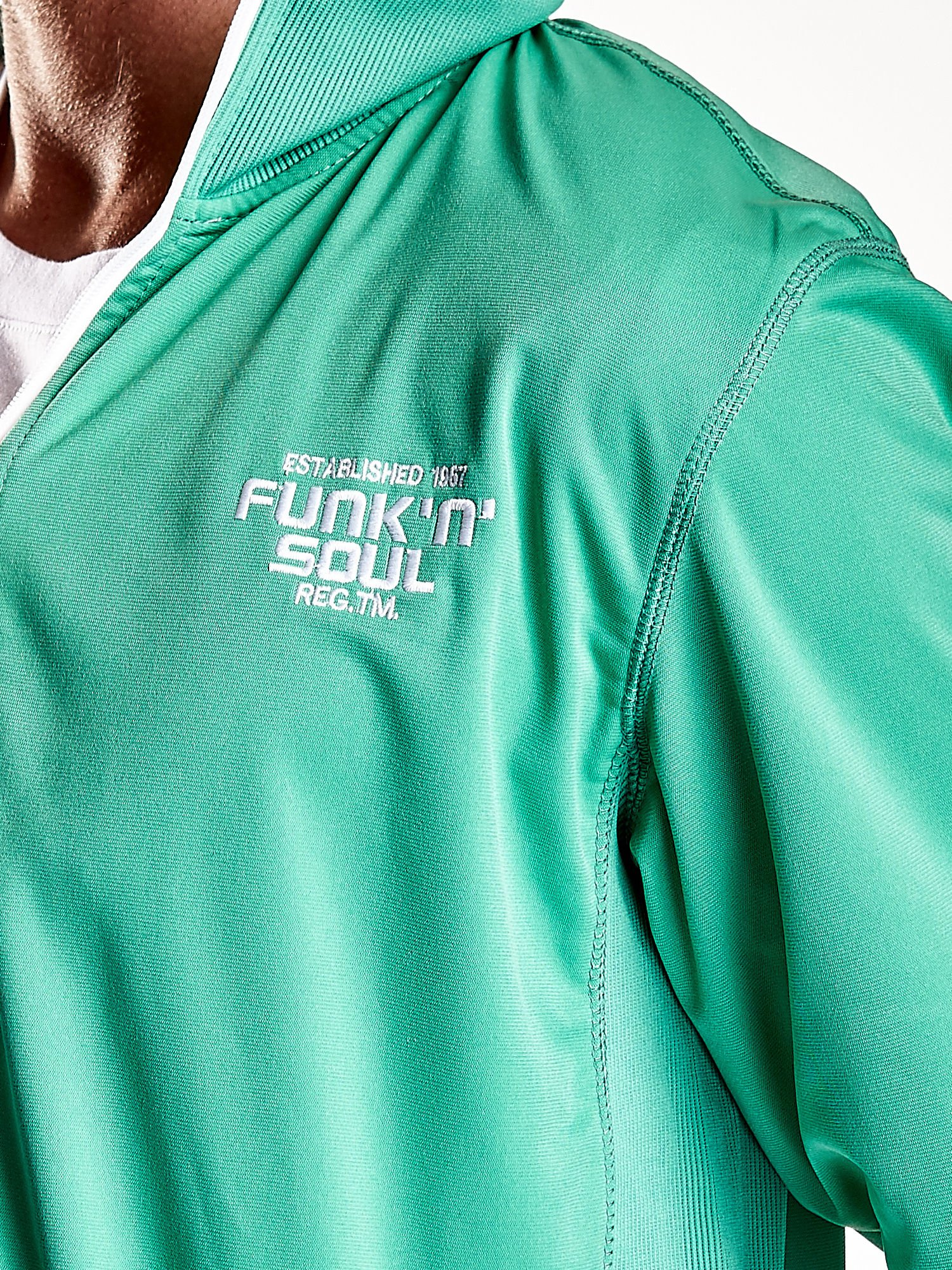 Zielona bluza męska na suwak Funk n Soul                                  zdj.                                  10