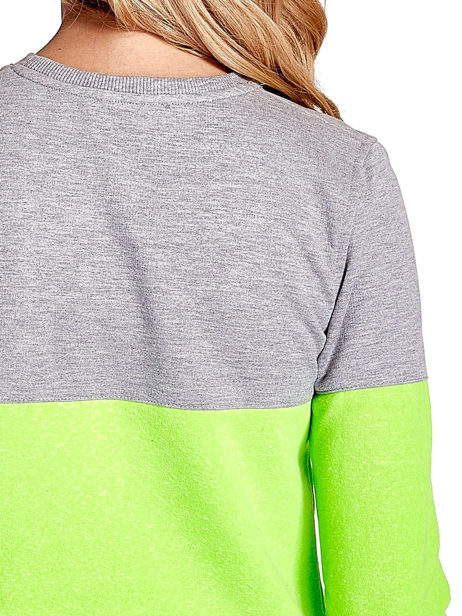 Zielona bluza z napisem I'M SO ADVERSE                                  zdj.                                  7