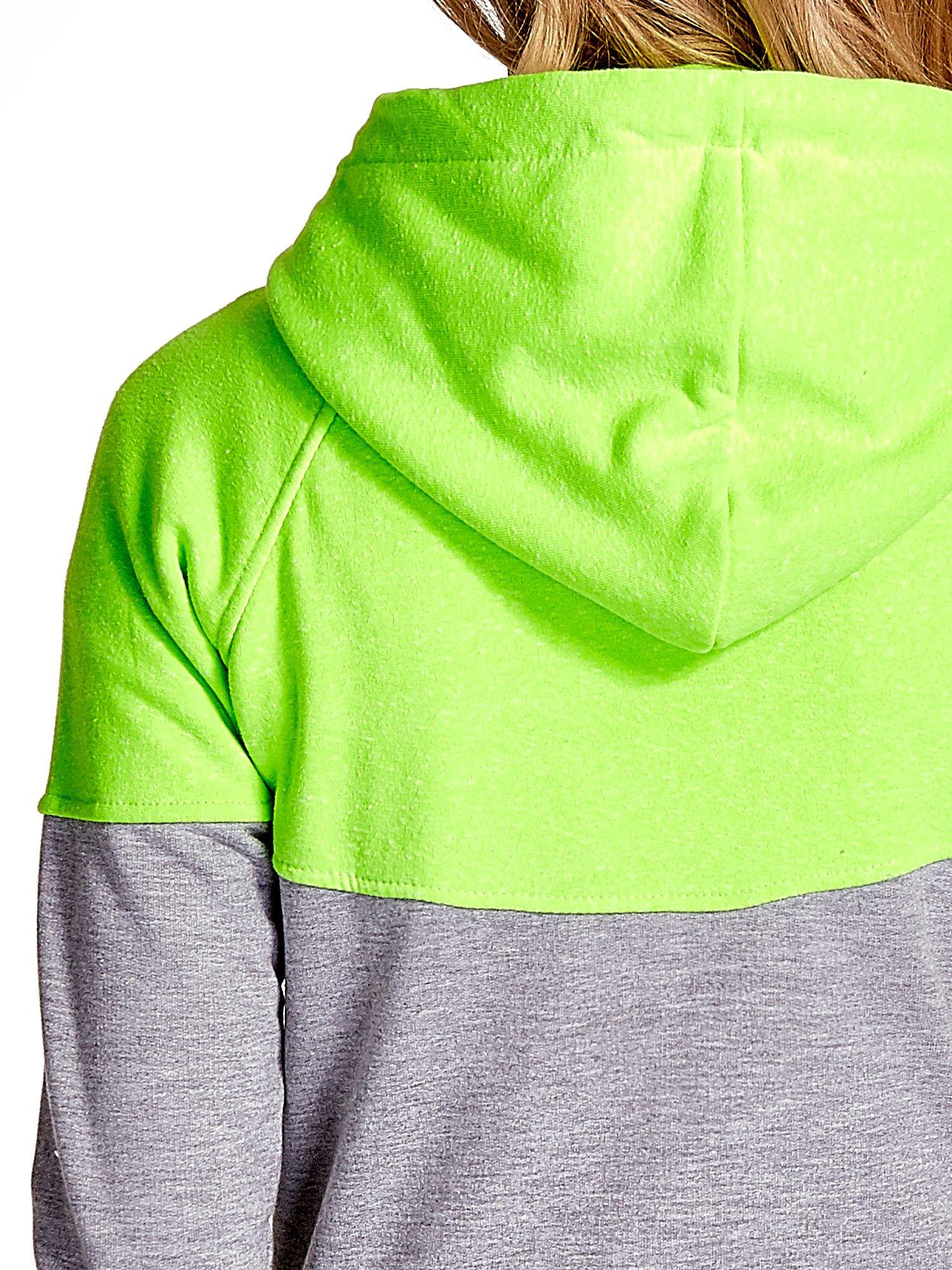 Zielona bluza z szarym pasem                                  zdj.                                  8