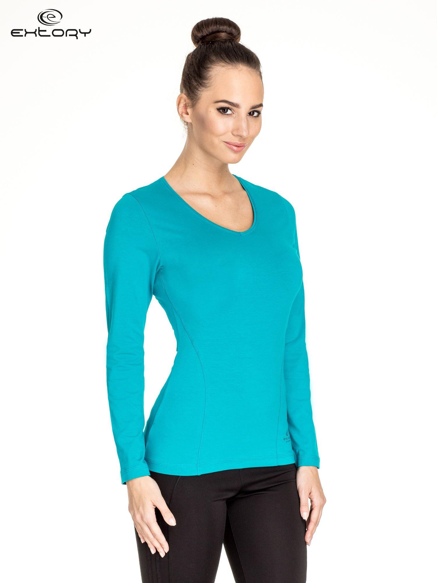 Zielona bluzka sportowa basic PLUS SIZE                                  zdj.                                  1