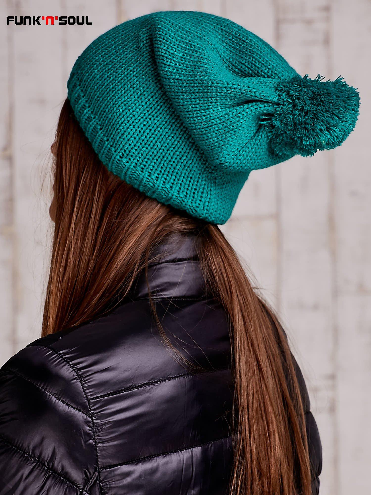 Zielona czapka z polarową wyściółką FUNK N SOUL                                  zdj.                                  3