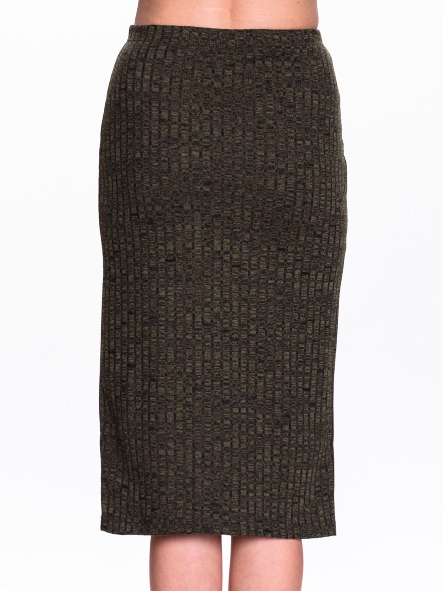 Zielona dzianinowa spódnica za kolono                                  zdj.                                  6