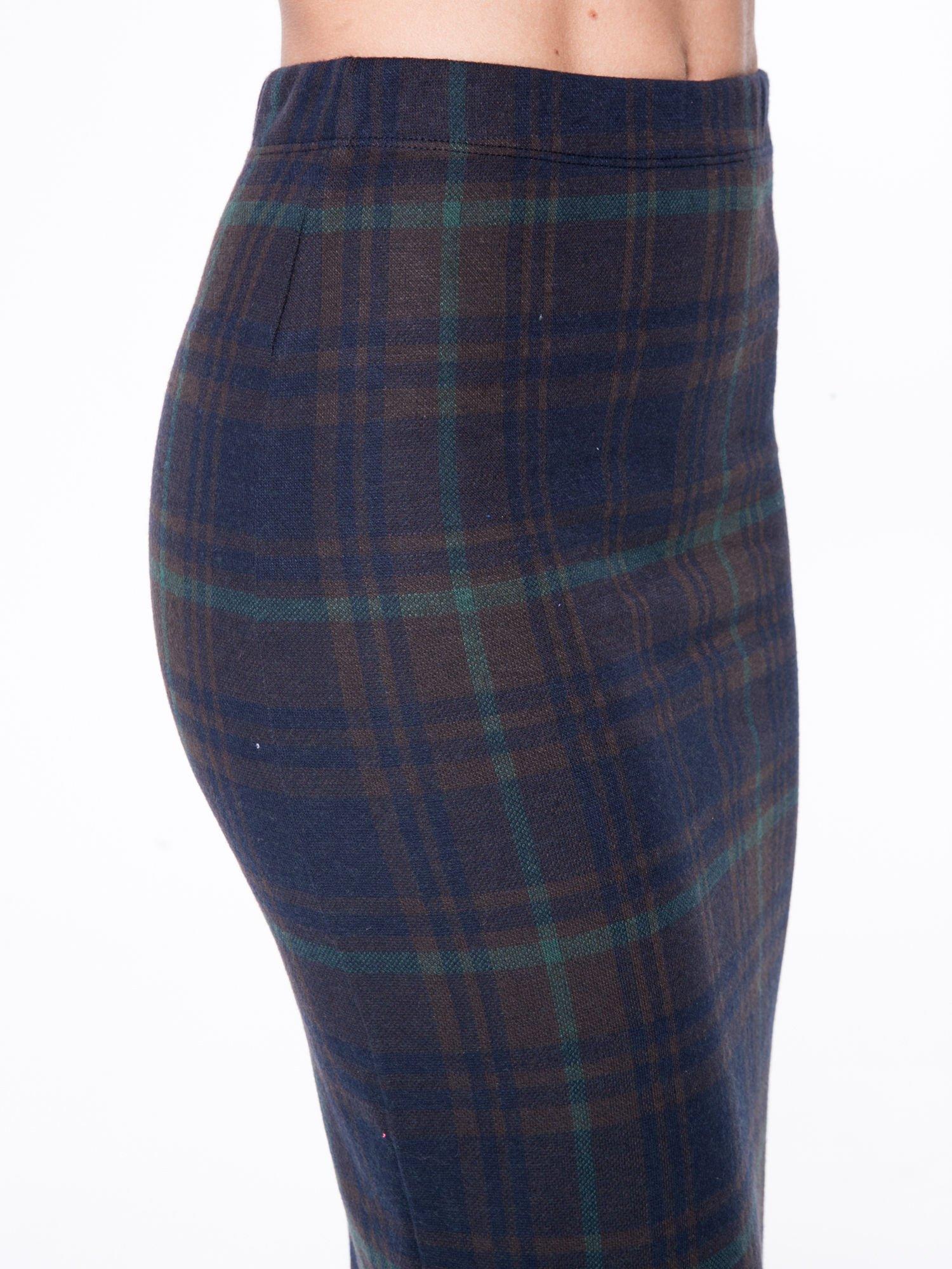 Zielona spódnica ołówkowa w kratę                                  zdj.                                  6