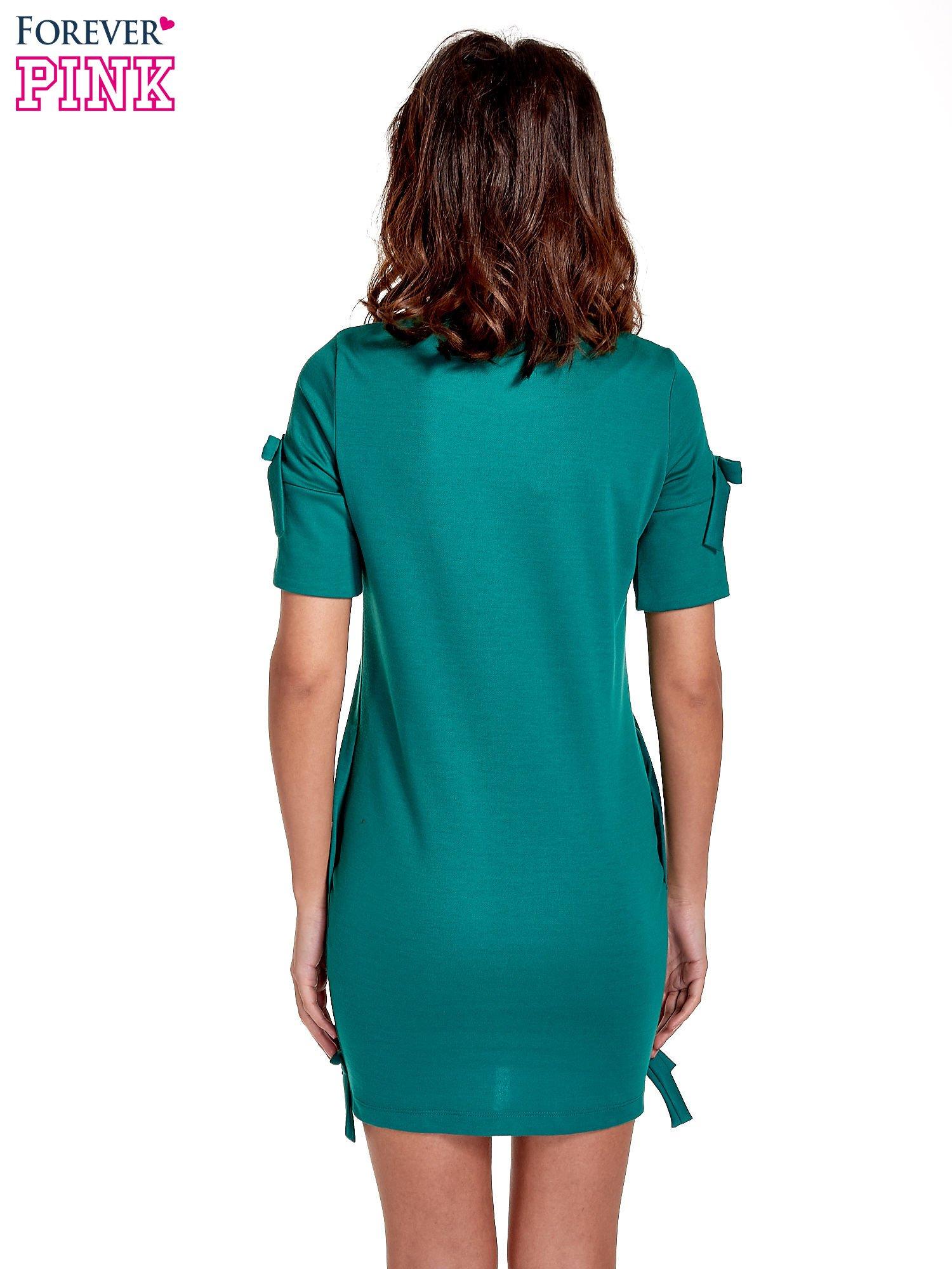 Zielona sukienka z kokardkami                                  zdj.                                  2