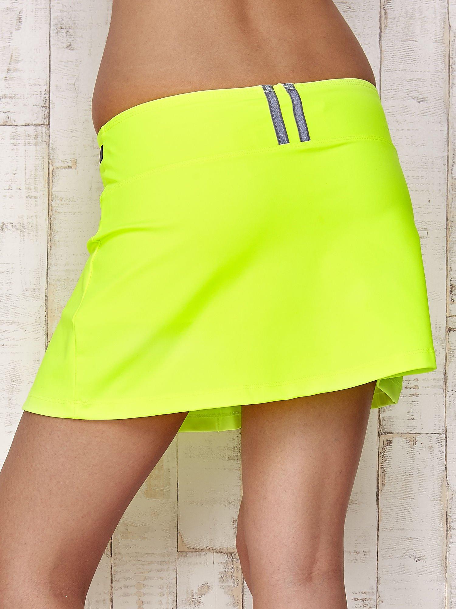 Zielone spodenki spódniczka tenisowa z szarymi wstawkami                                  zdj.                                  8