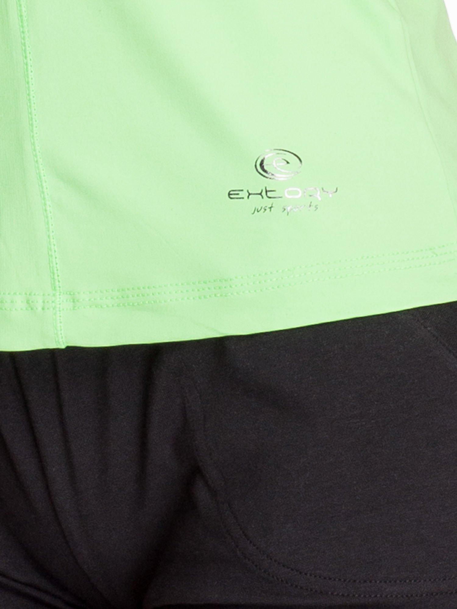 Zielony modelujący top sportowy bokserka                                  zdj.                                  3