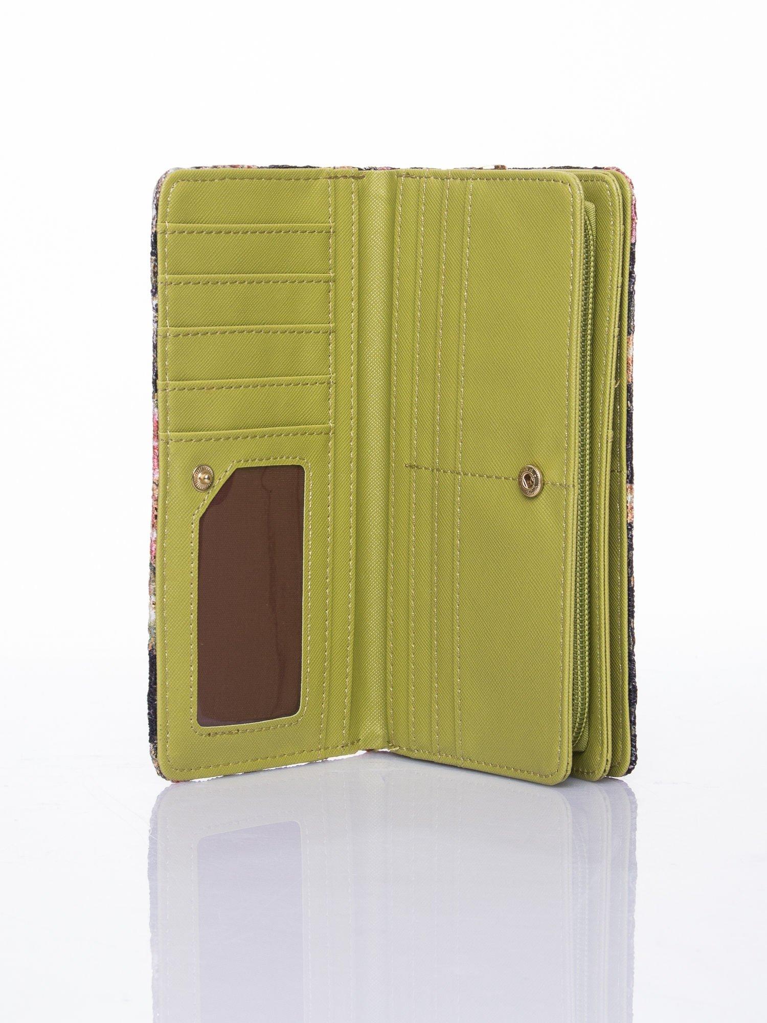 Zielony portfel z nadrukiem paisley                                  zdj.                                  4