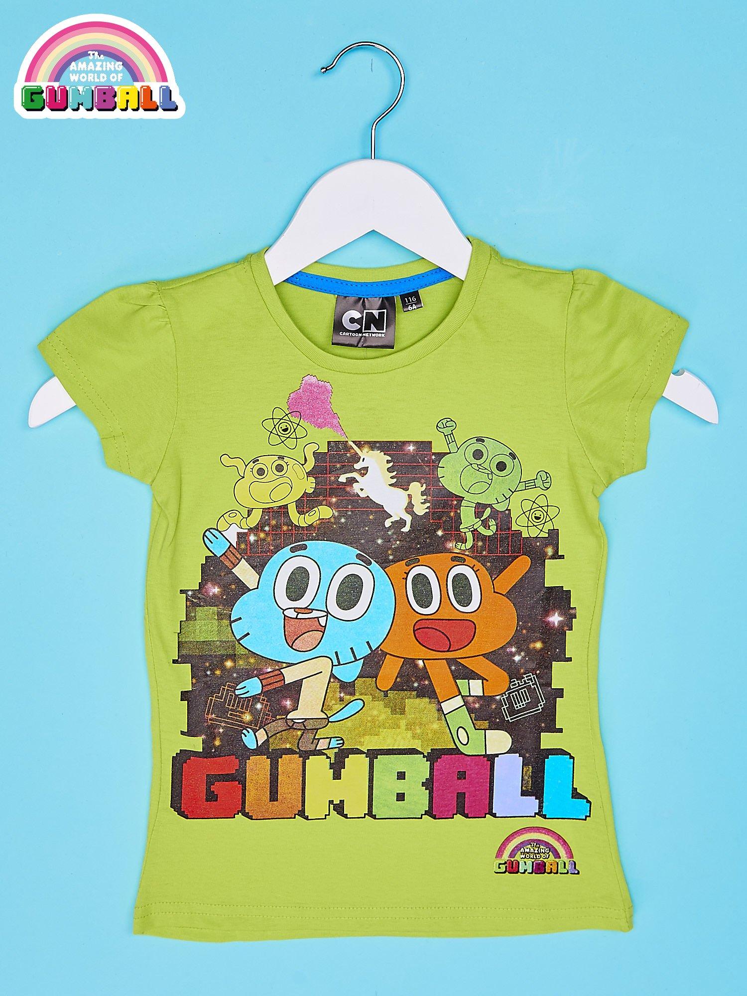 Zielony t-shirt chłopięcy GUMBALL                                  zdj.                                  1