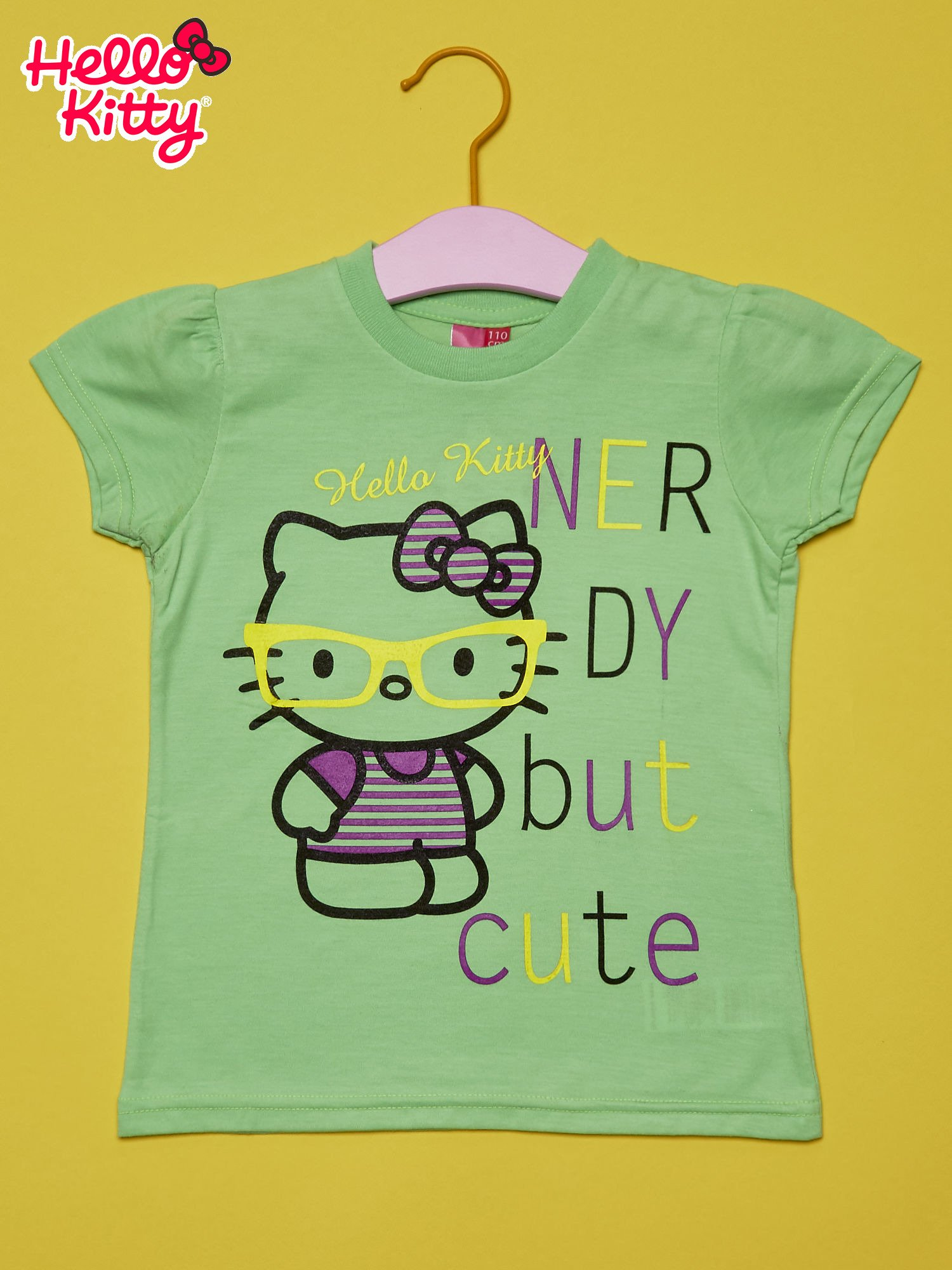 Zielony t-shirt dla dziewczynki HELLO KITTY                                  zdj.                                  1