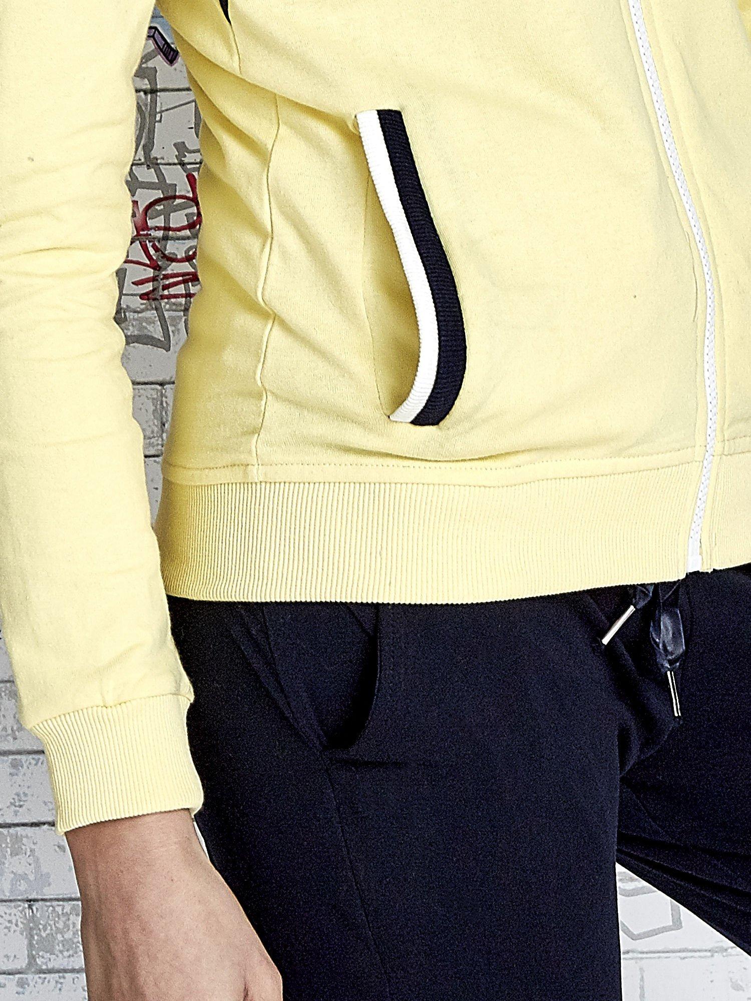 Żółta bluza z granatowymi wstawkami                                  zdj.                                  7