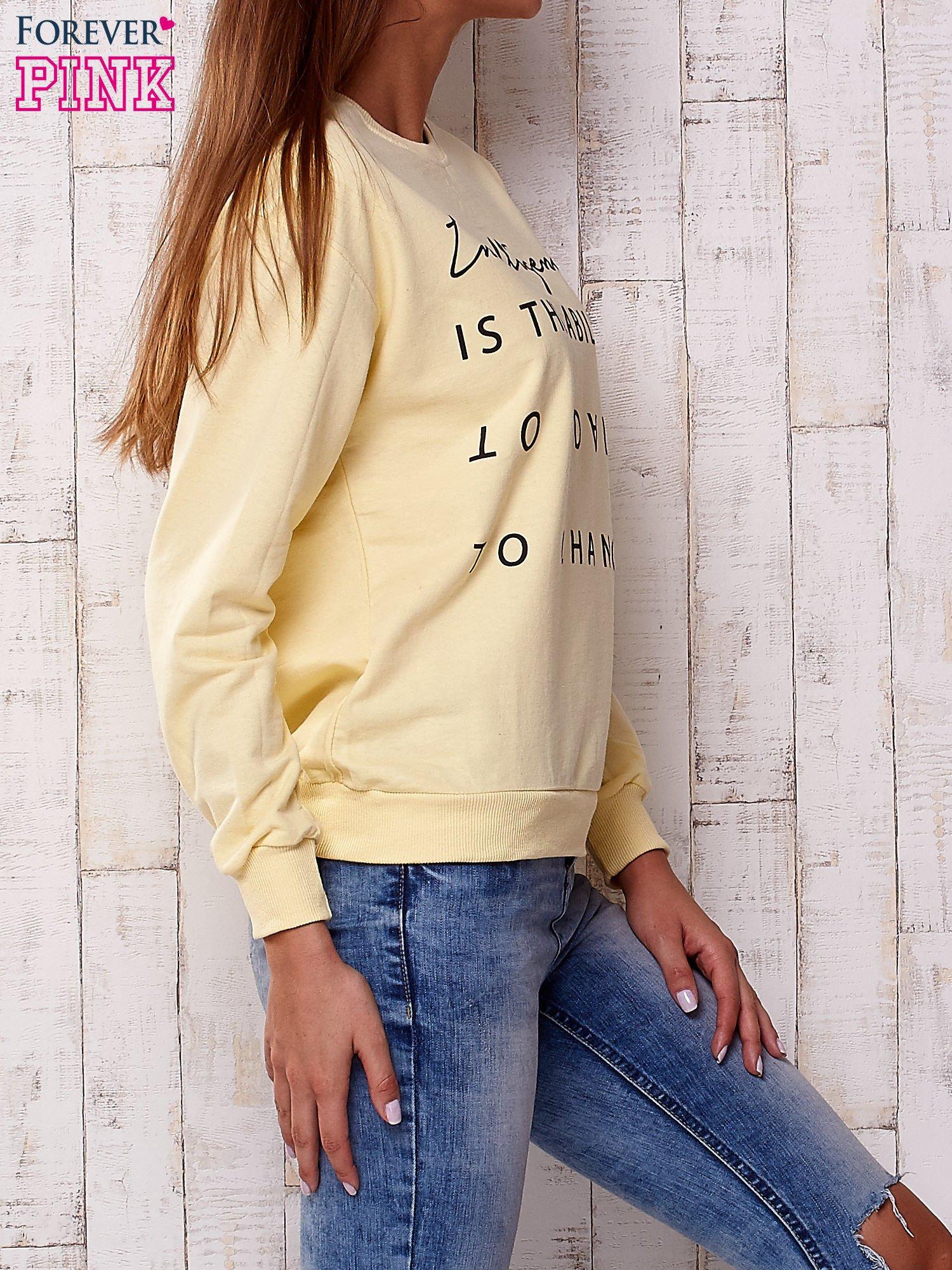 Żółta bluza z napisem                                  zdj.                                  4