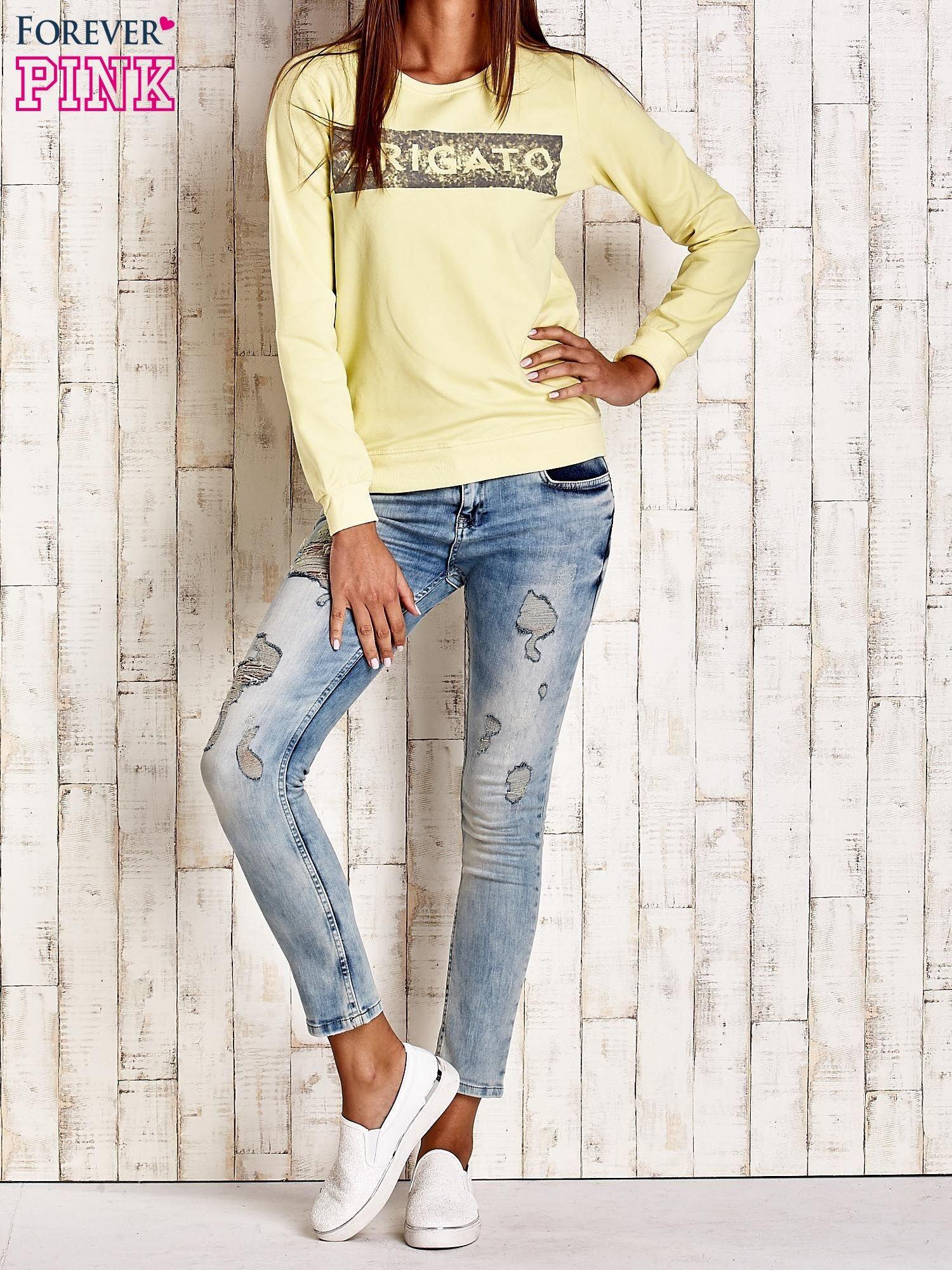 Żółta bluza z napisem ARIGATO                                  zdj.                                  4