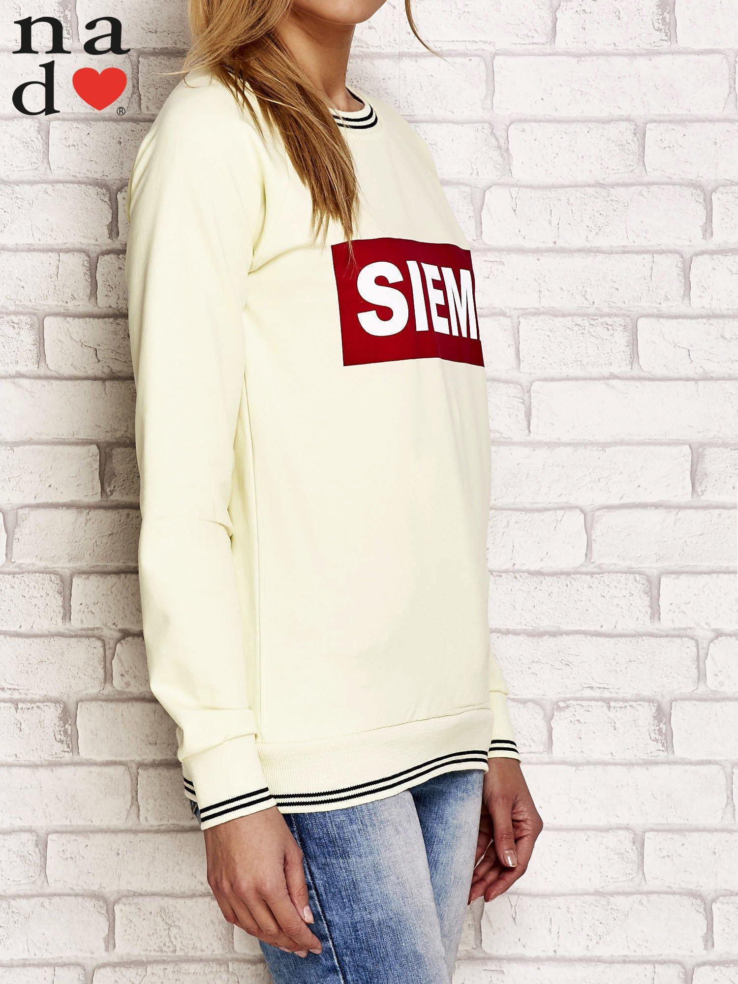 Żółta bluza z napisem SIEMA                                  zdj.                                  3