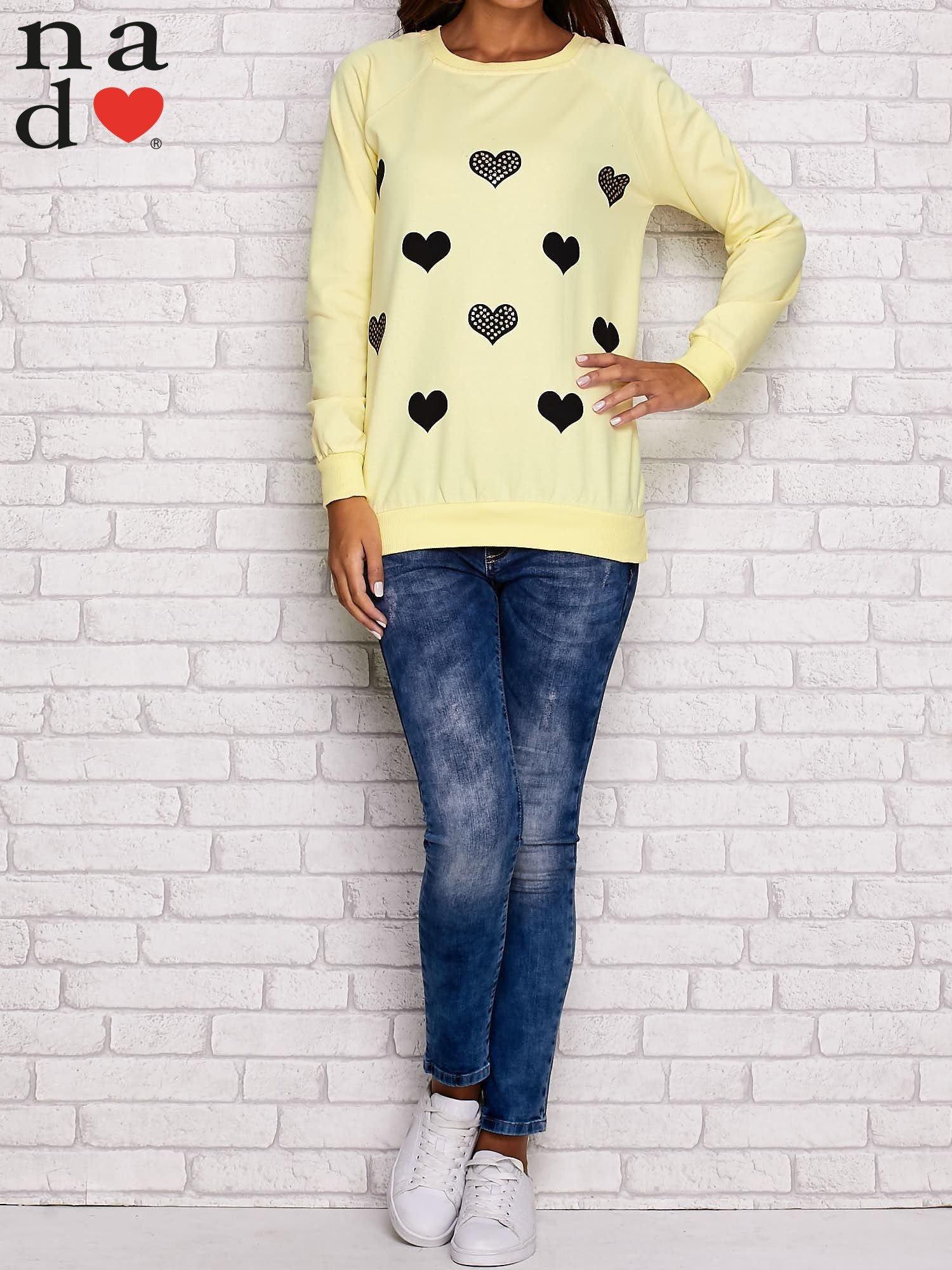 Żółta bluza z serduszkami                                  zdj.                                  4