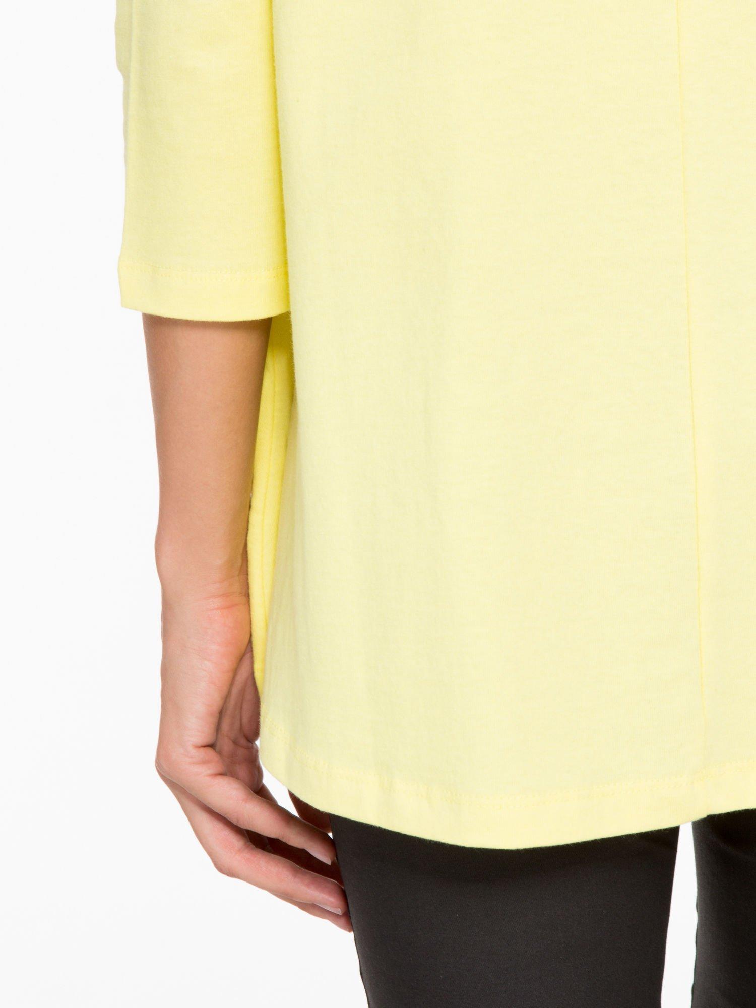 Żółta bluzka o rozkloszowanym kroju z rękawem 3/4                                  zdj.                                  10