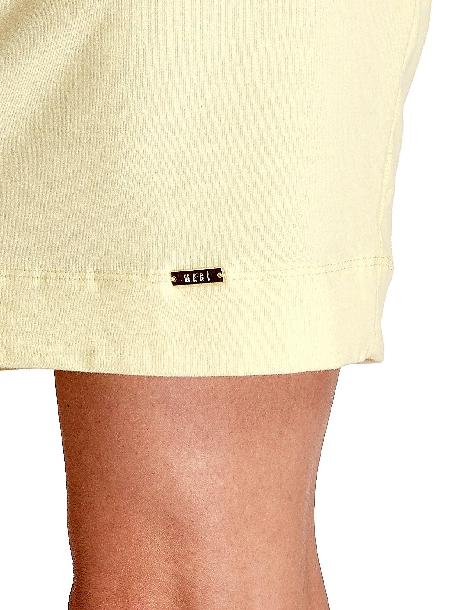 Żółta sukienka z rękawem za łokieć                                  zdj.                                  6
