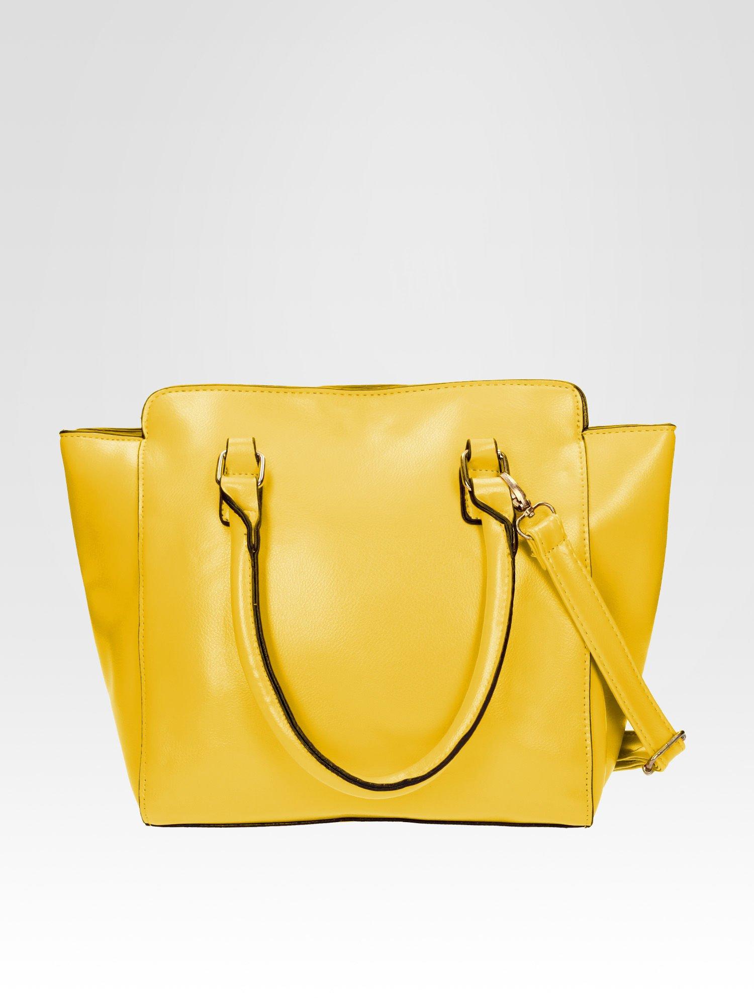 Żółta torebka na ramię z dżetami                                  zdj.                                  3