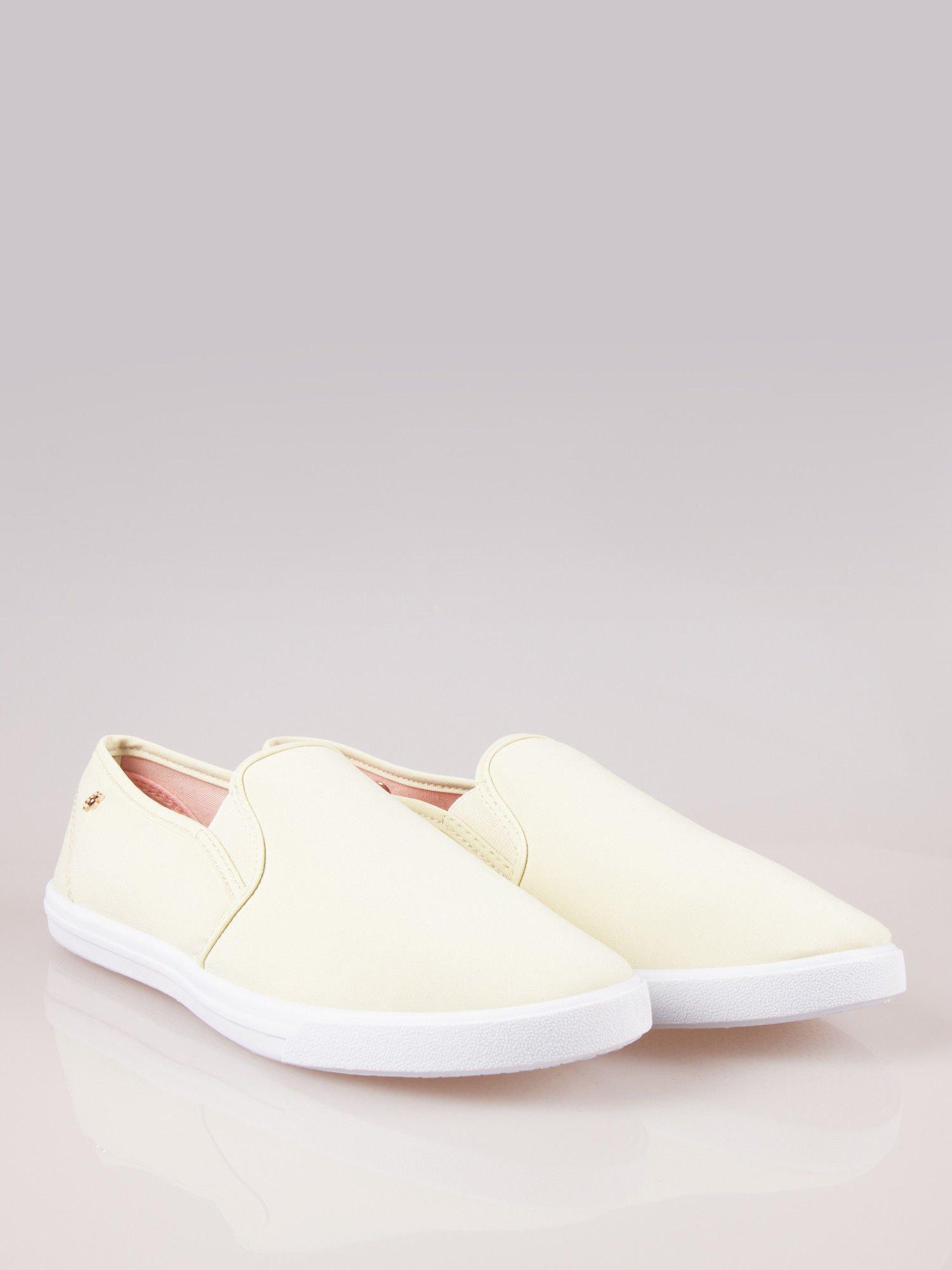 Żółte buty slip on                                  zdj.                                  1
