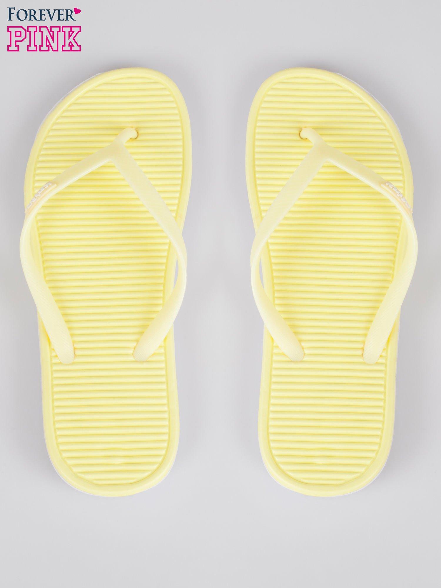 Żółte lekkie japonki plażowe                                  zdj.                                  3