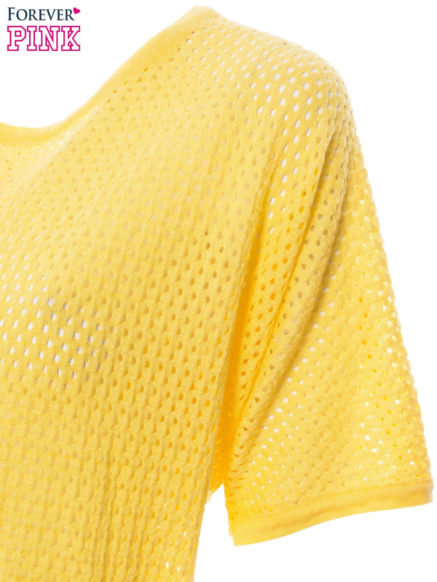 Żółty siateczkowy sweter oversize                                  zdj.                                  6