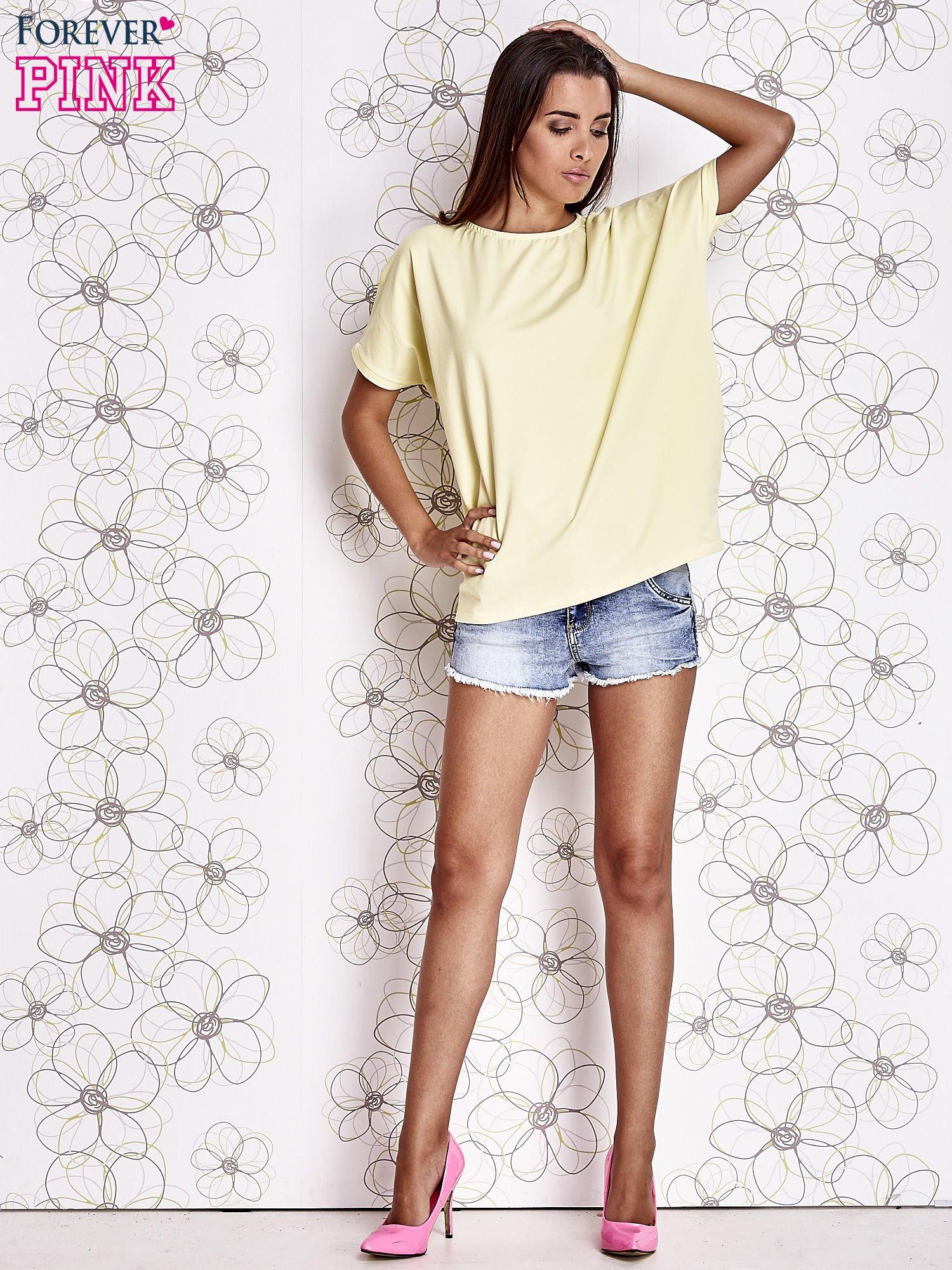 Żółty t-shirt oversize                                  zdj.                                  2