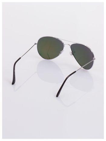 AVIATORY srebrne okulary pilotki lustrzanki czerwono/pomarańczowe                                  zdj.                                  4